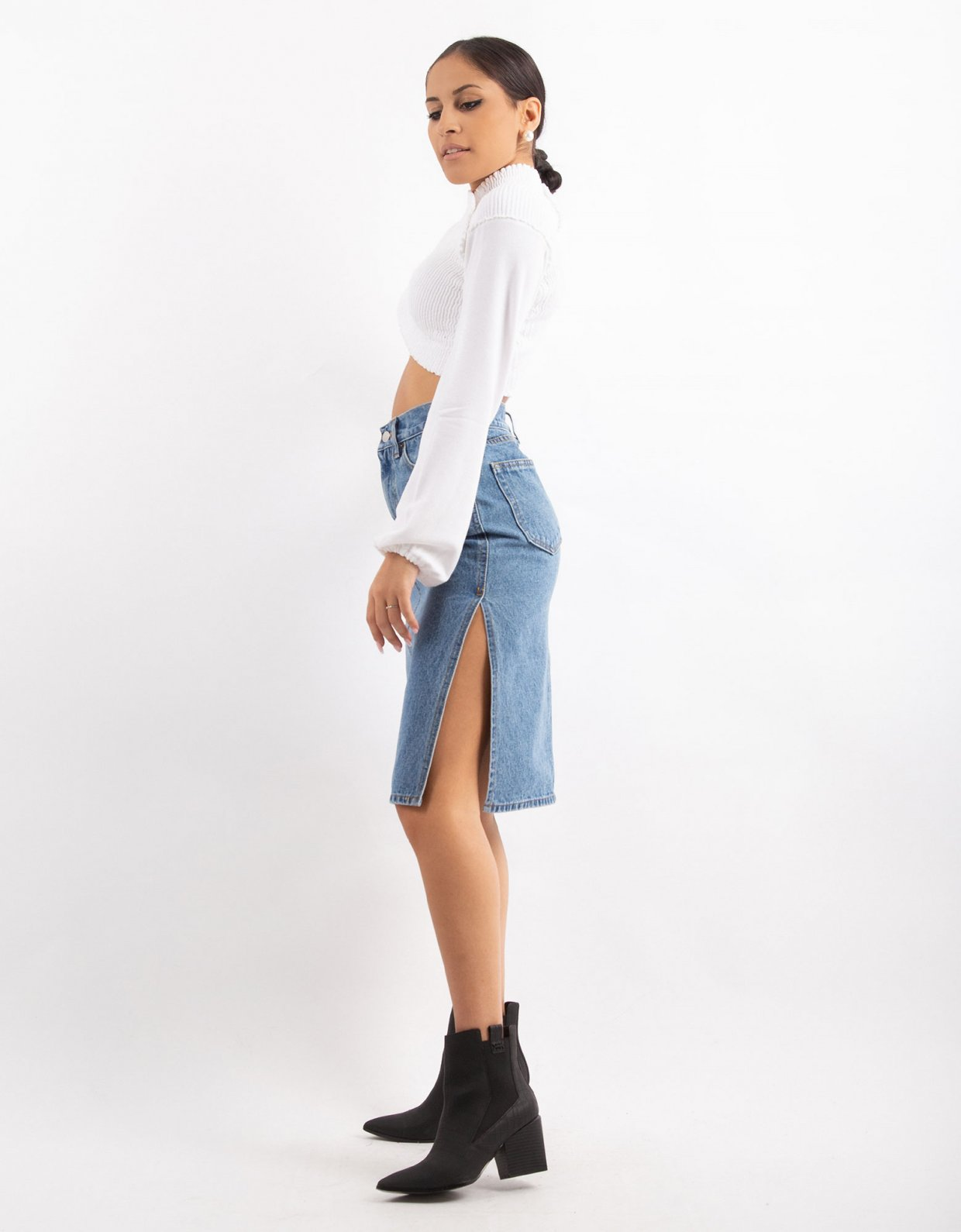 Salt & Pepper Denice dance me denim skirt