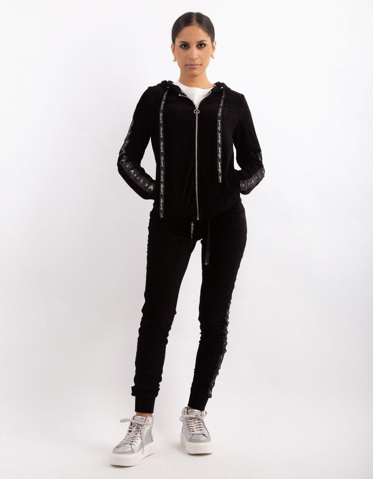 Kendall + Kylie Corduroy velvet zipper hoody