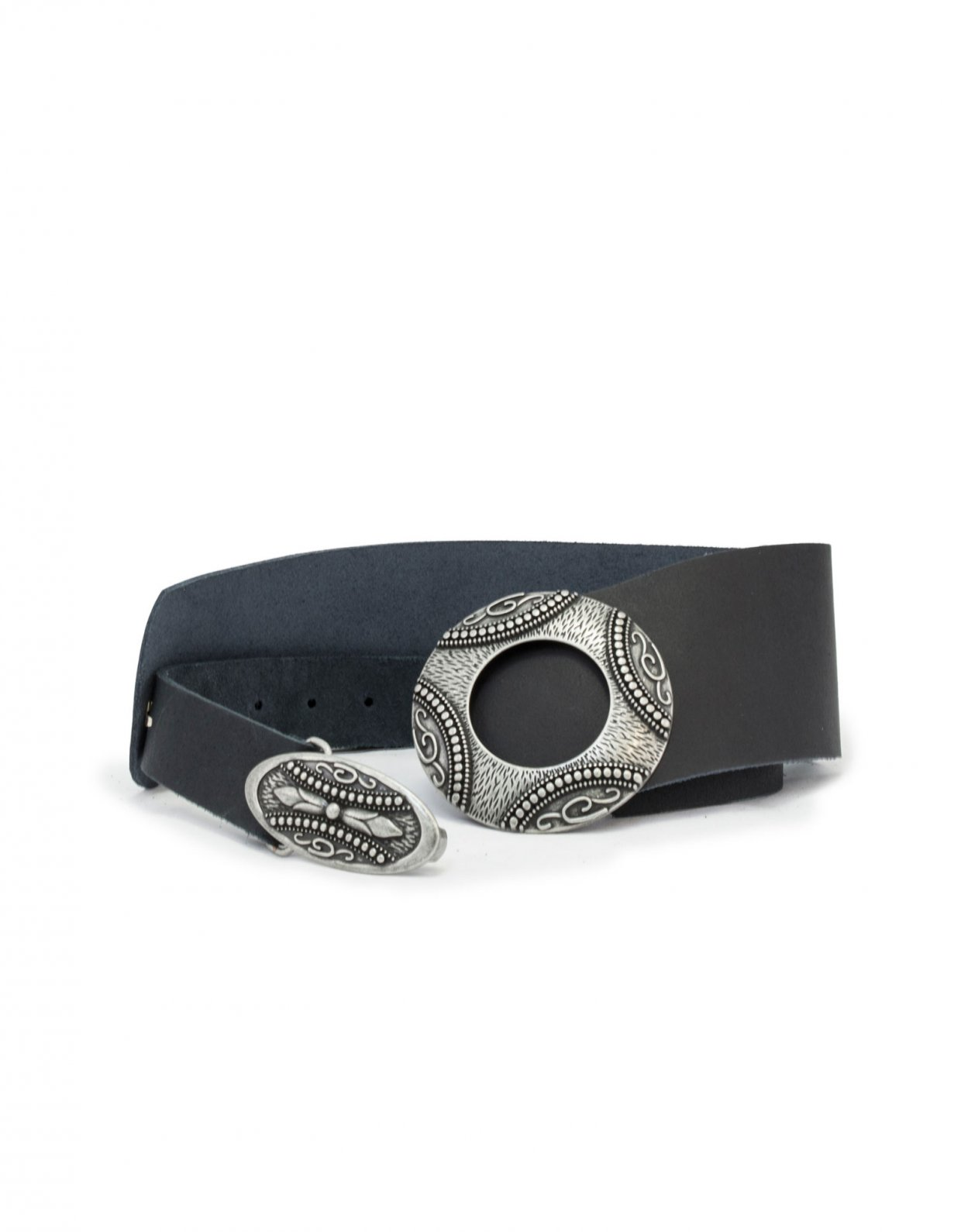 Individual Art Leather Supreme black/silver belt