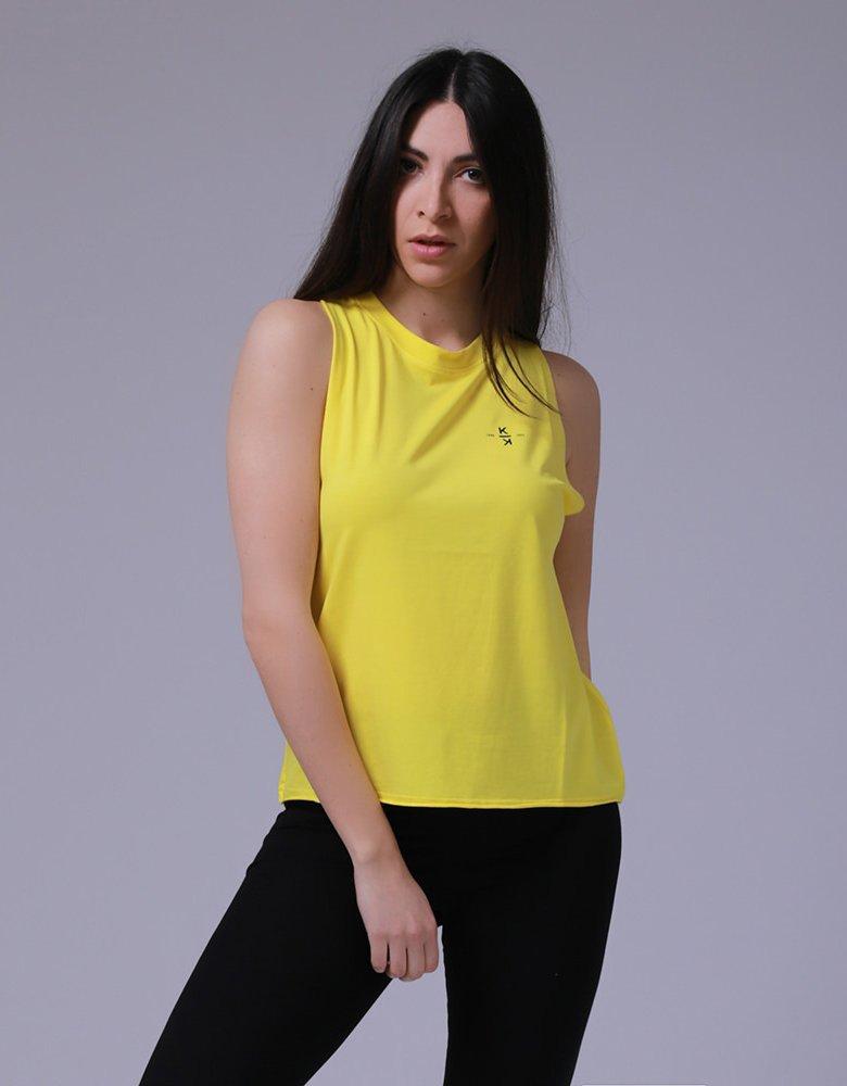 Kendall + Kylie KK 00011 Yellow tank top