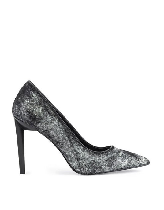Kendall + Kylie ΚΚ Olivia black/silver pony heels