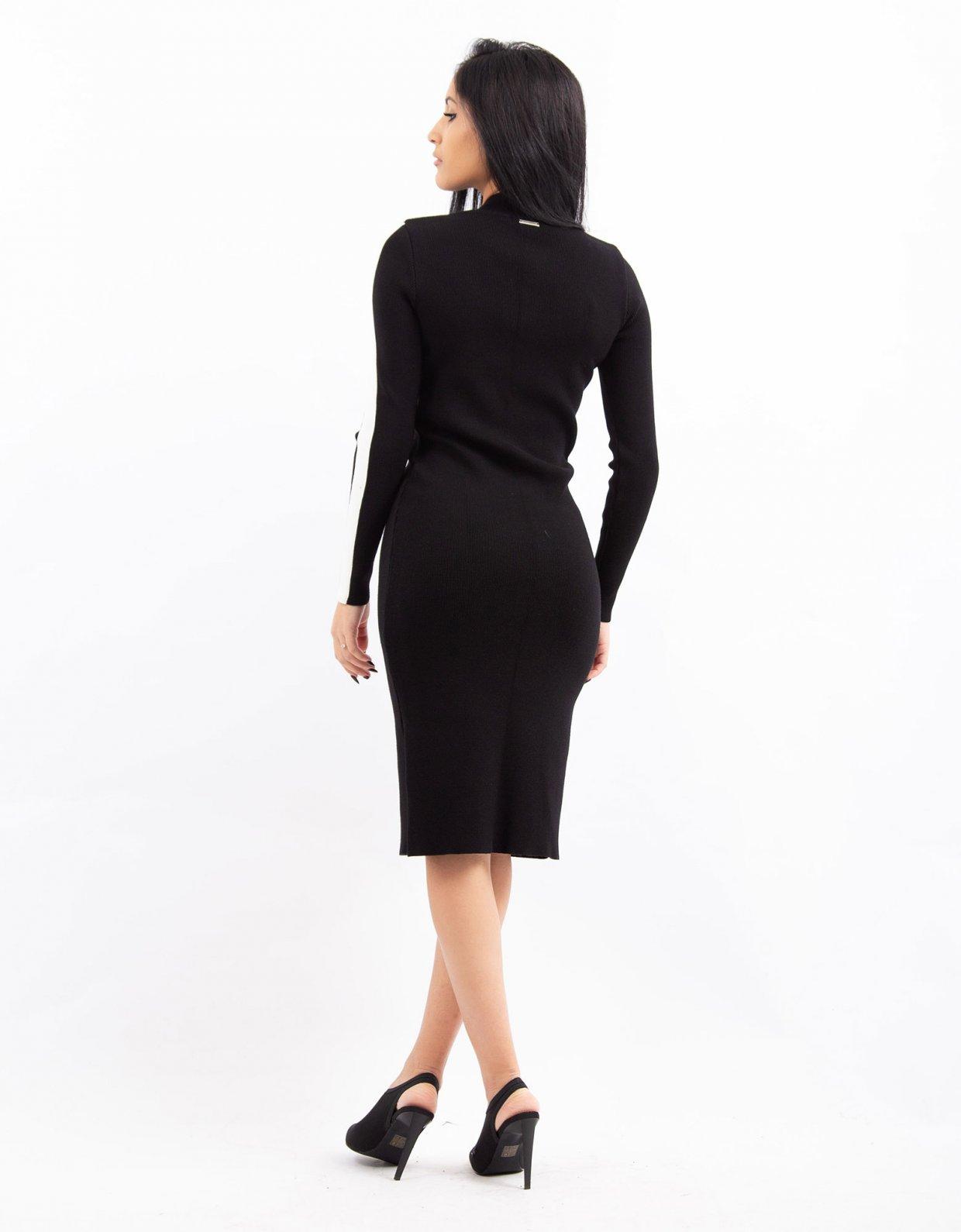 Combos Knitwear Combos W39 – White stripe dress