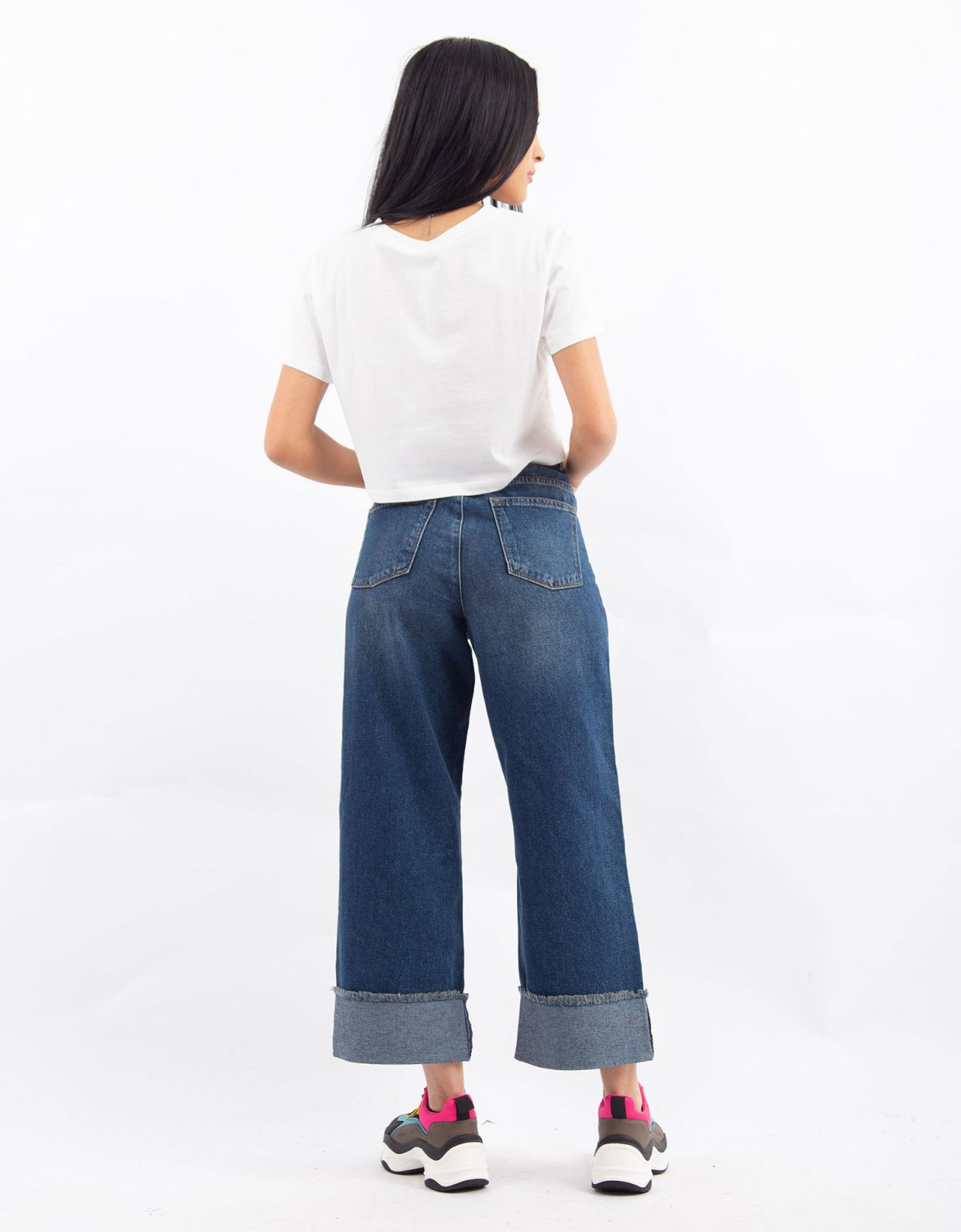 Kendall + Kylie Denim turnup pants