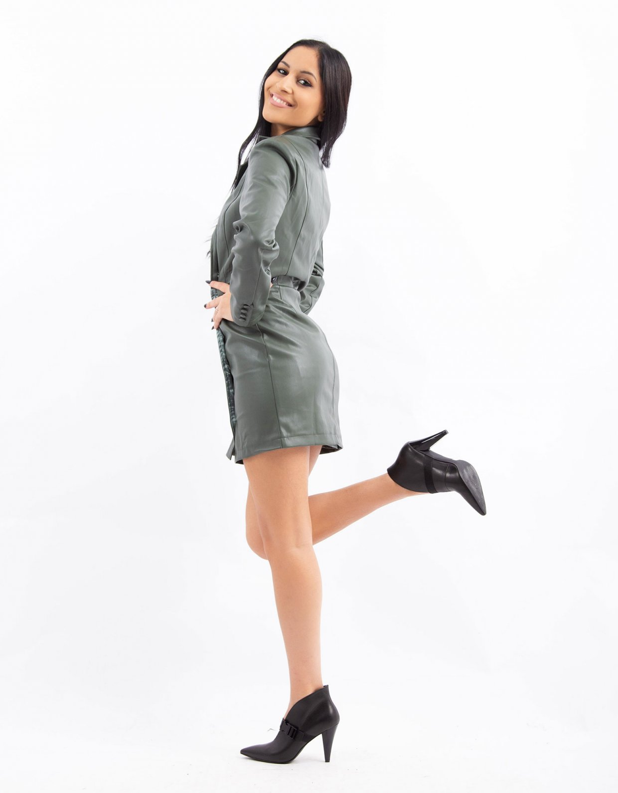 Kendall + Kylie Blazer front wrap dress