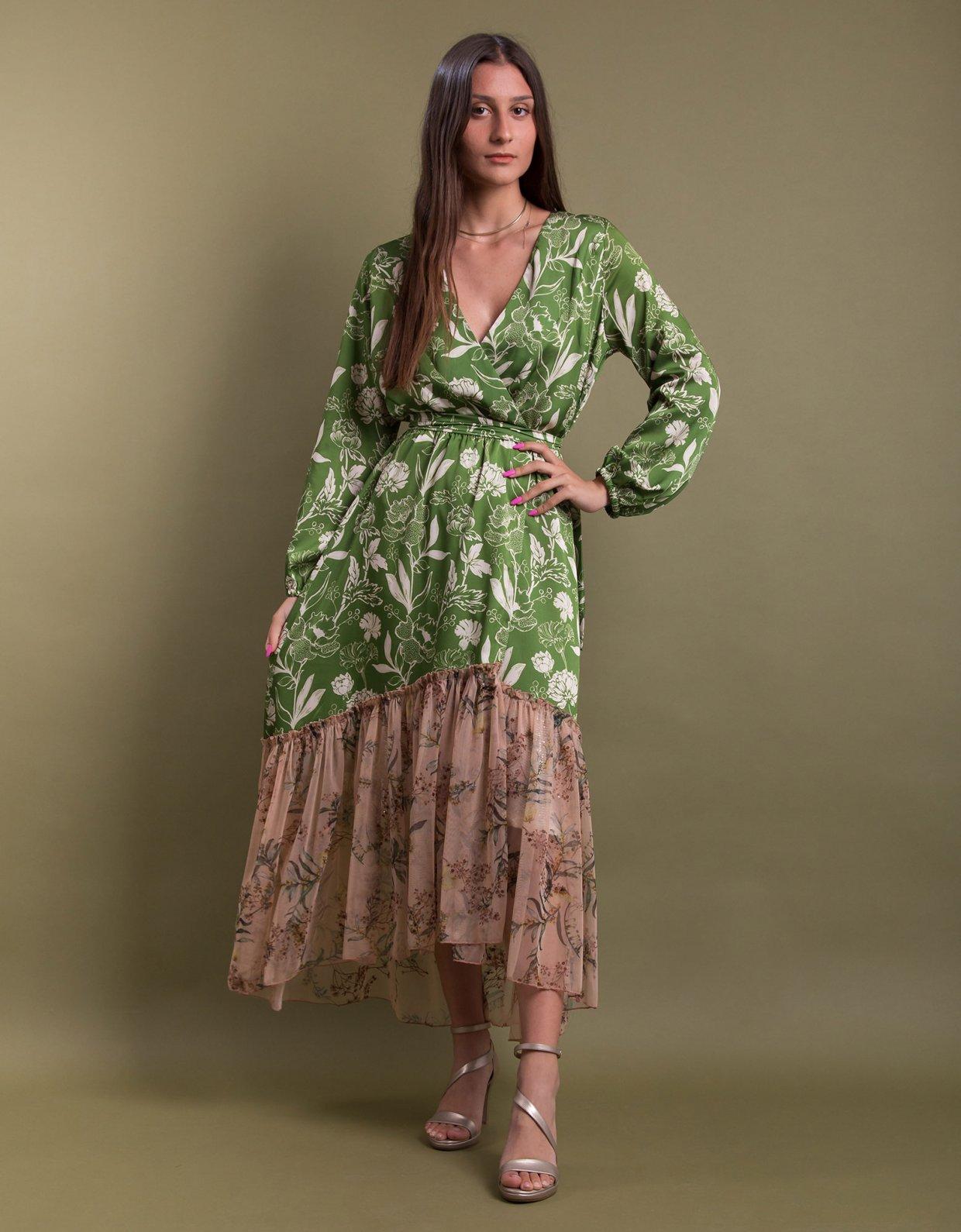 Nidodileda Milcham kimono green