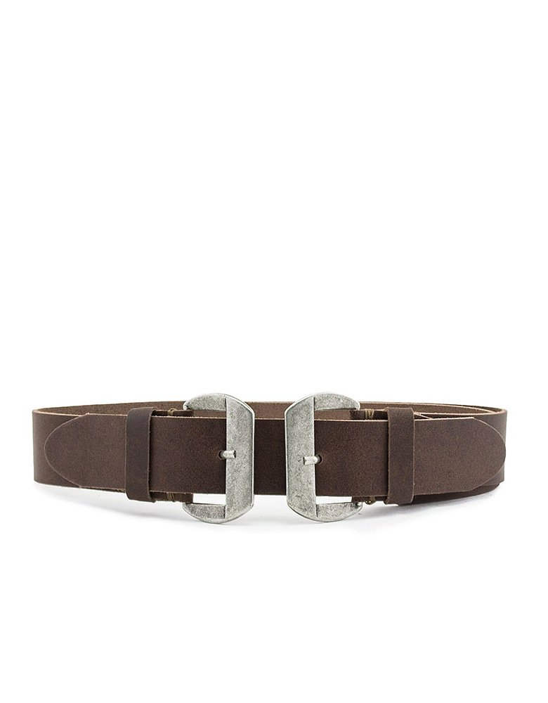 Individual Art Leather Closer belt brown