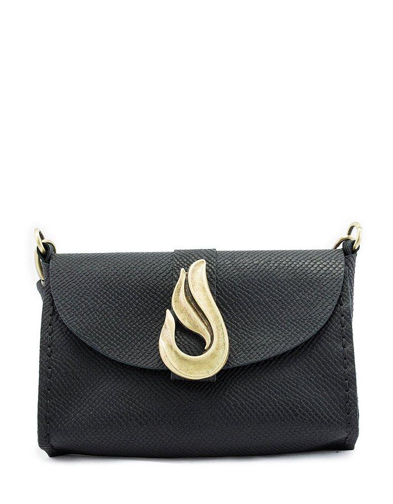 Individual Art Leather Teardrop bag black/bronze