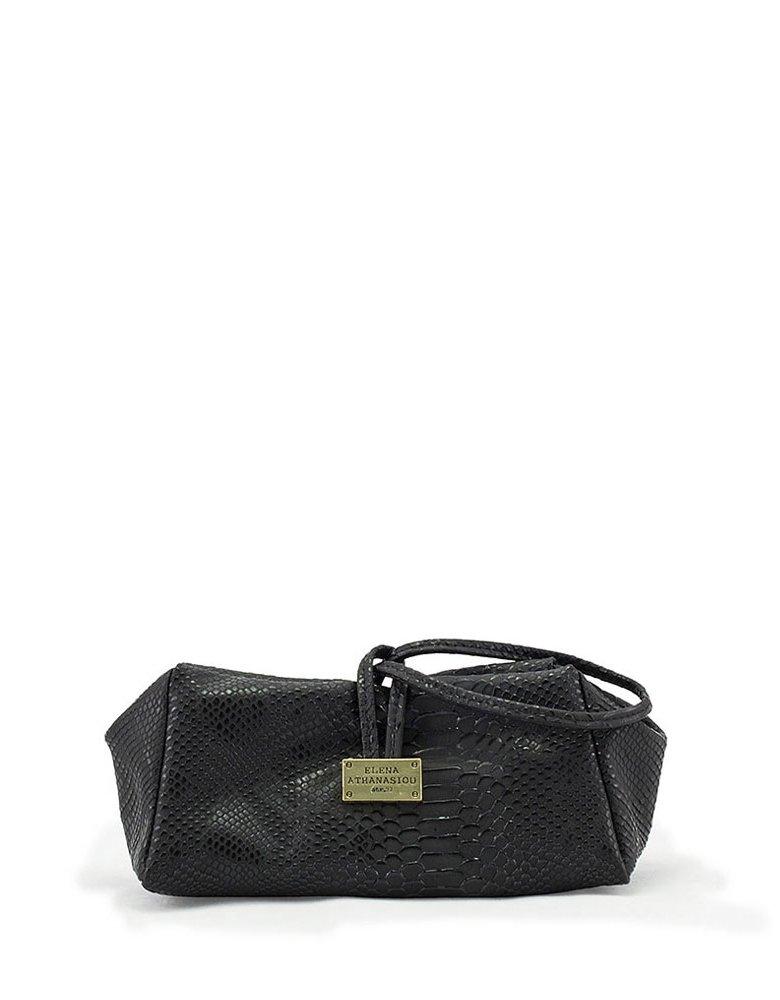Elena Athanasiou Croco black lunch bag