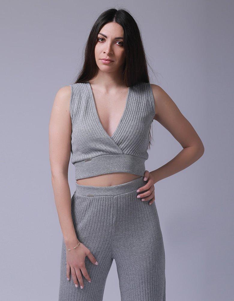 Combos Knitwear Combos S-64 Grey lurex pants