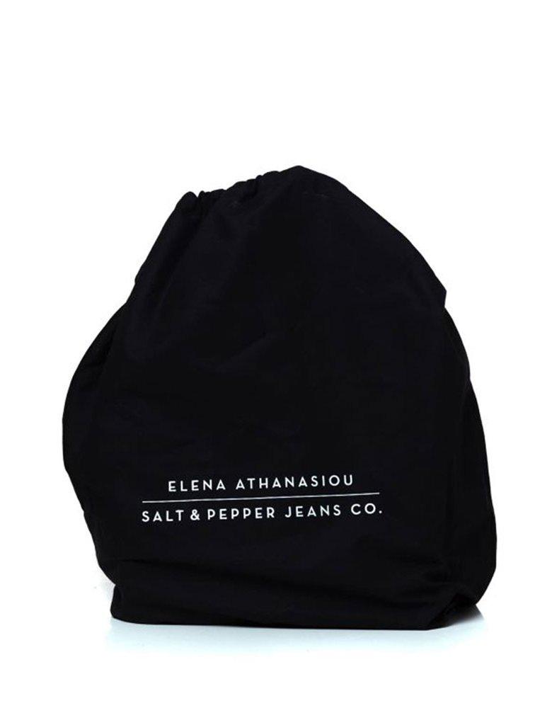 Elena Athanasiou Salt&Pepper X Eleana Athanasiou black pearl bag
