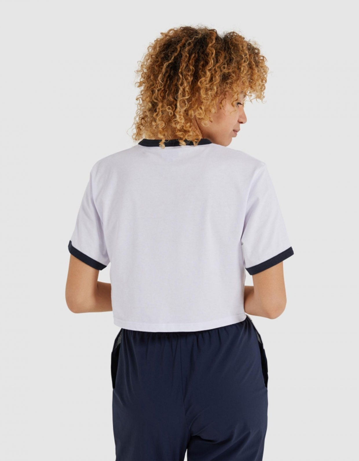 Ellesse Filide crop t-shirt white