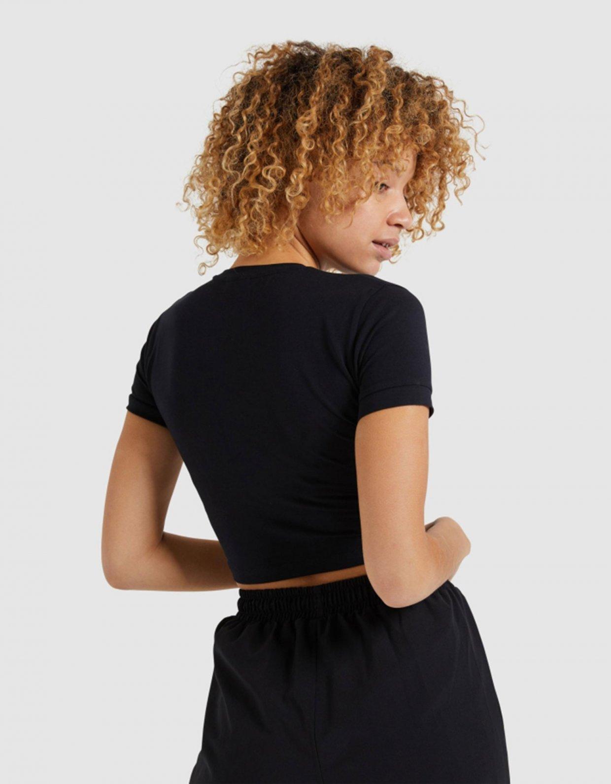 Ellesse Romancia crop t-shirt black