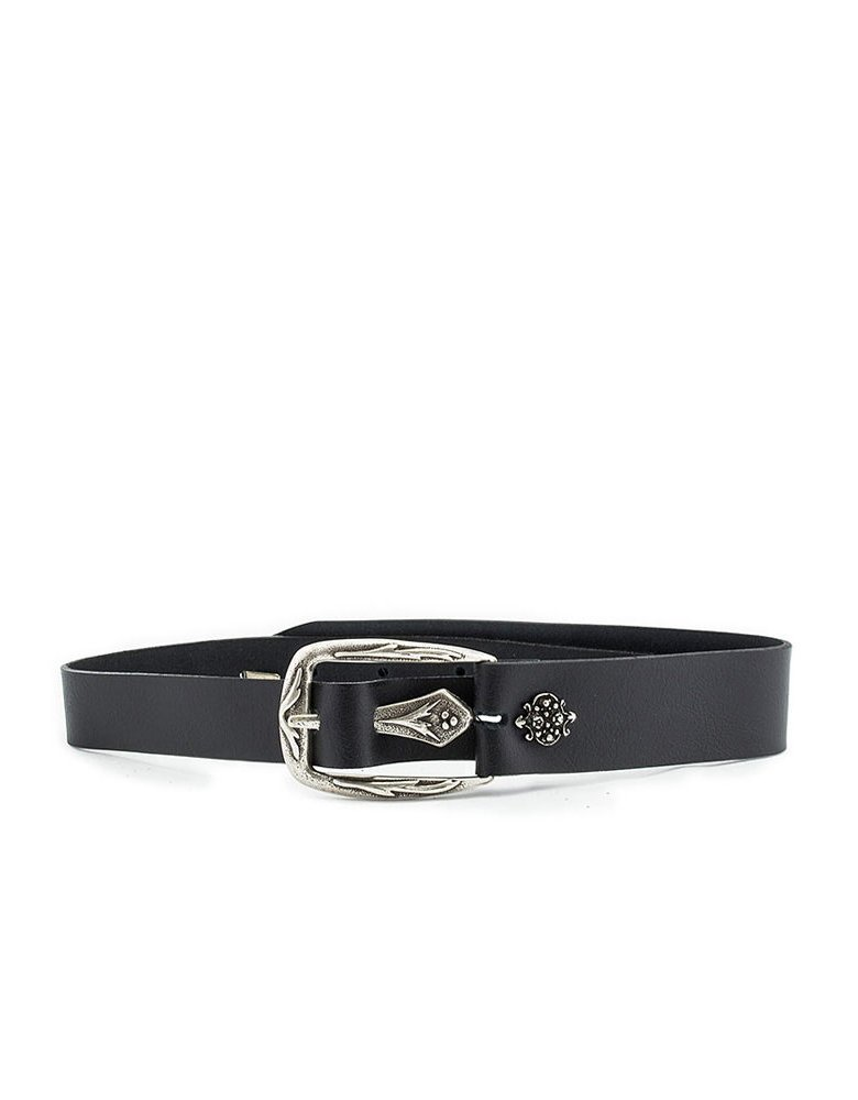 Individual Art Leather Wound belt black