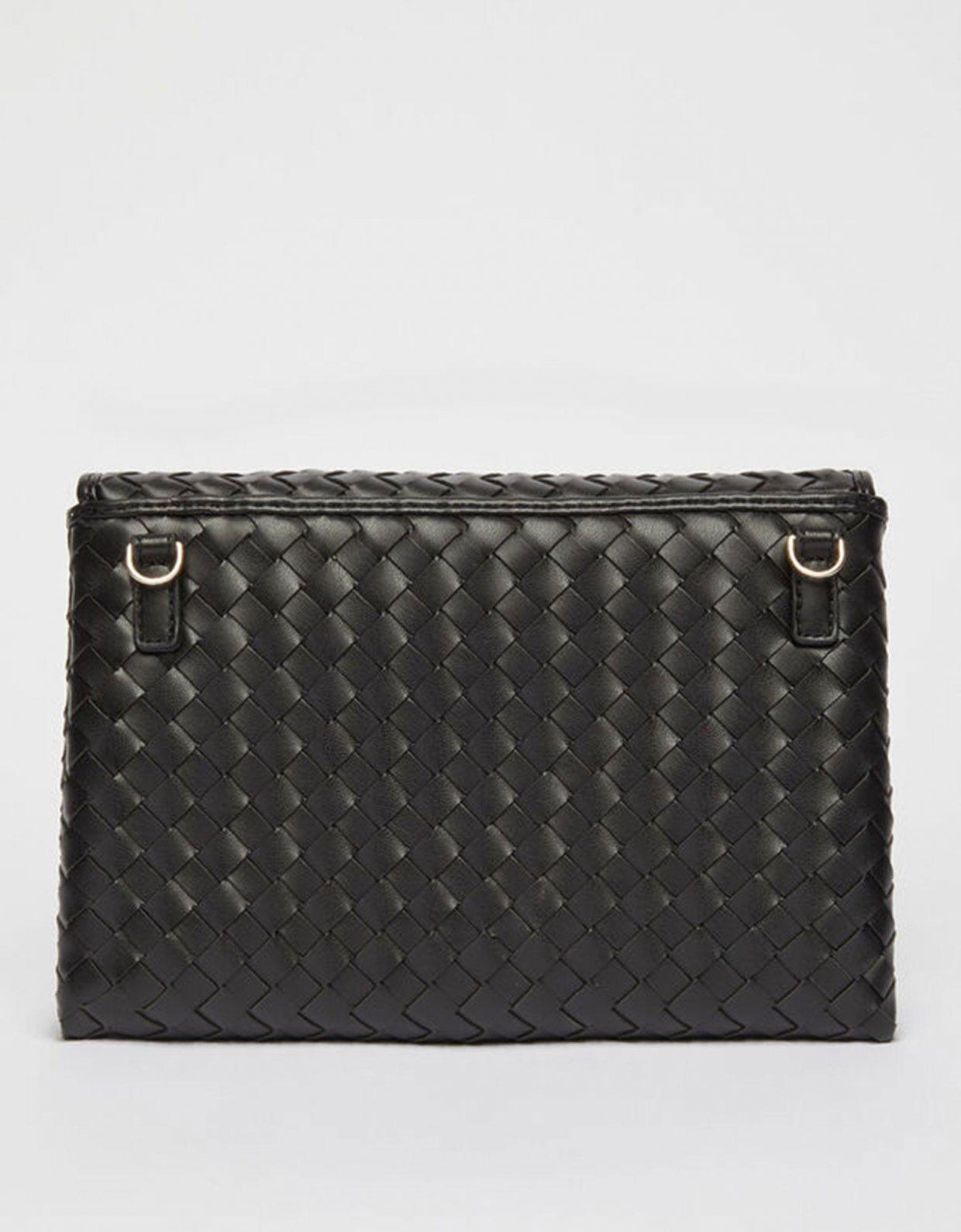 Liu Jo Eco-friendly woven clutch bag nero