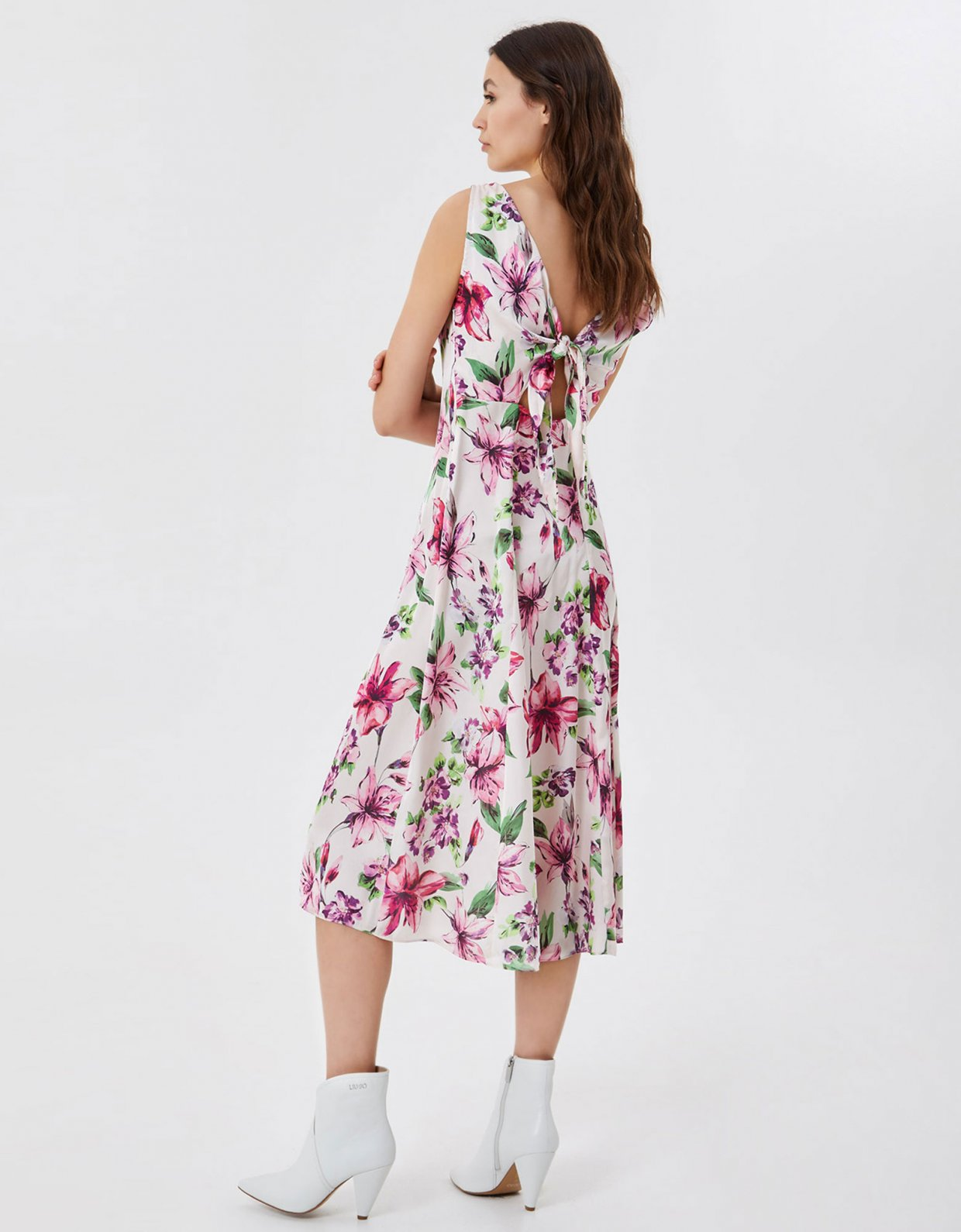 Liu Jo Midi dress with cut out floral