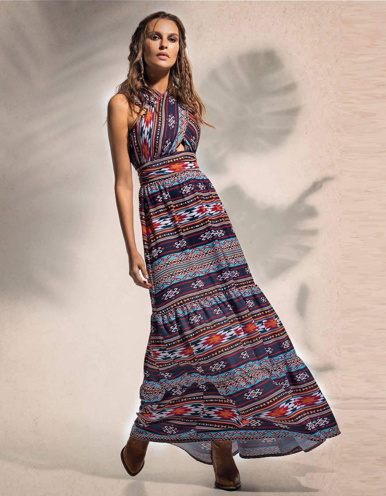 Peace & Chaos Native long dress