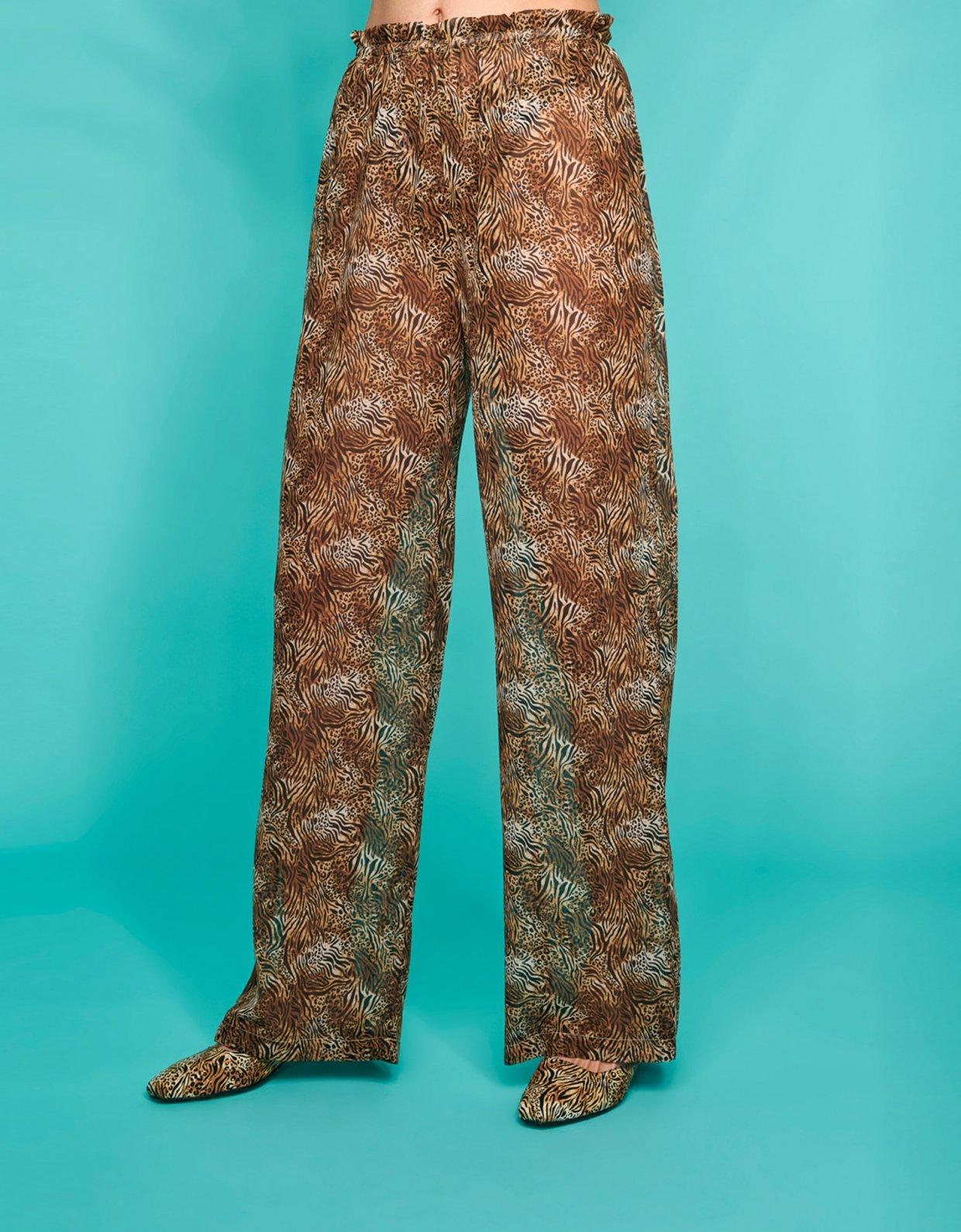 Sunset go Valentina c-through pants animal print