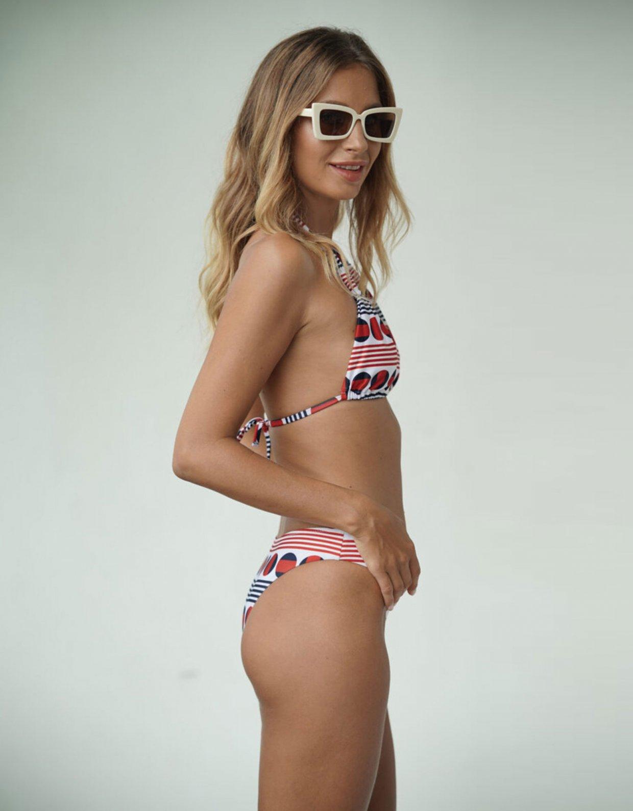 Lookseri swimwear Ayo pois n' stripes bikini