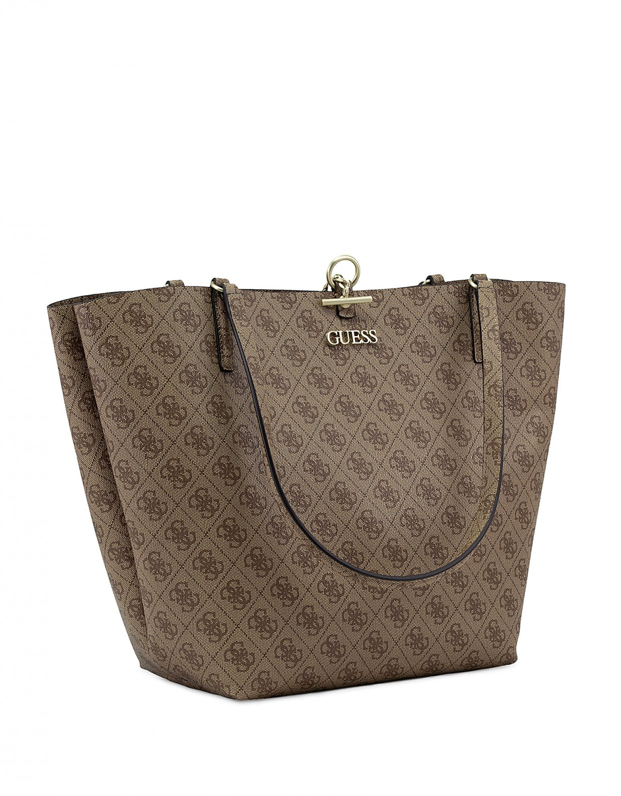 Guess Alby toggle tote bag latte
