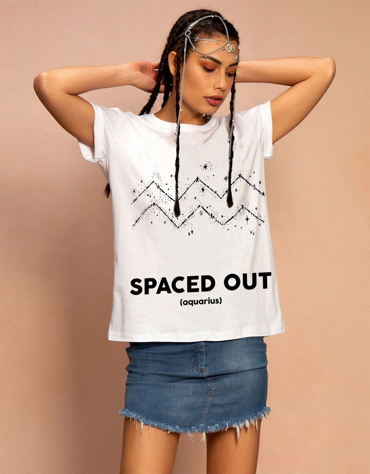Peace & Chaos Zodiac t-shirt Aquarius