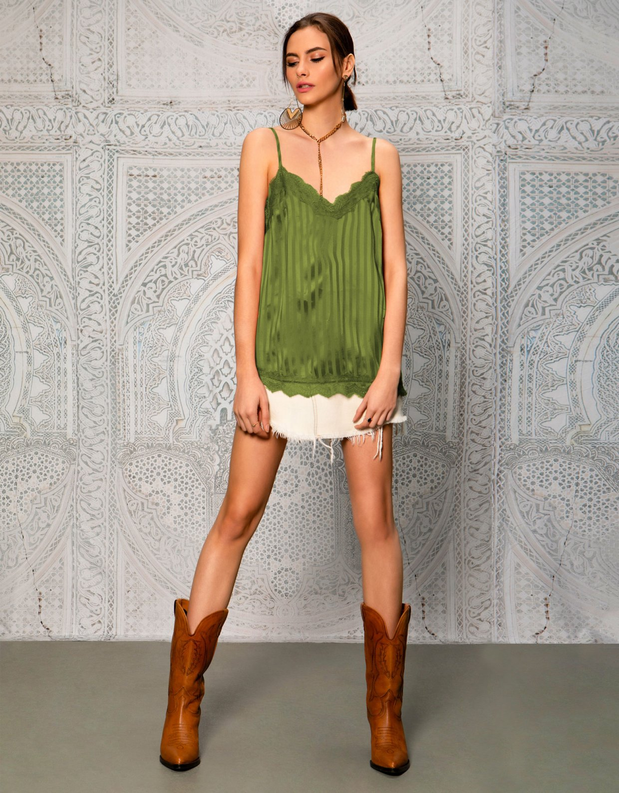 Peace & Chaos Atelie top olive
