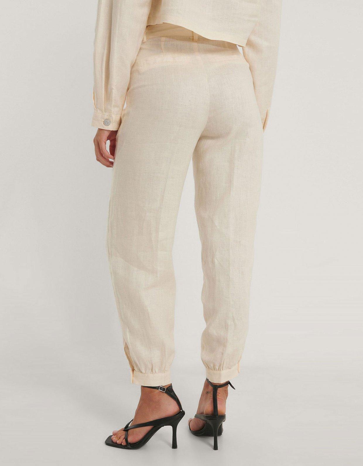 NA-KD Balloon leg linen pants
