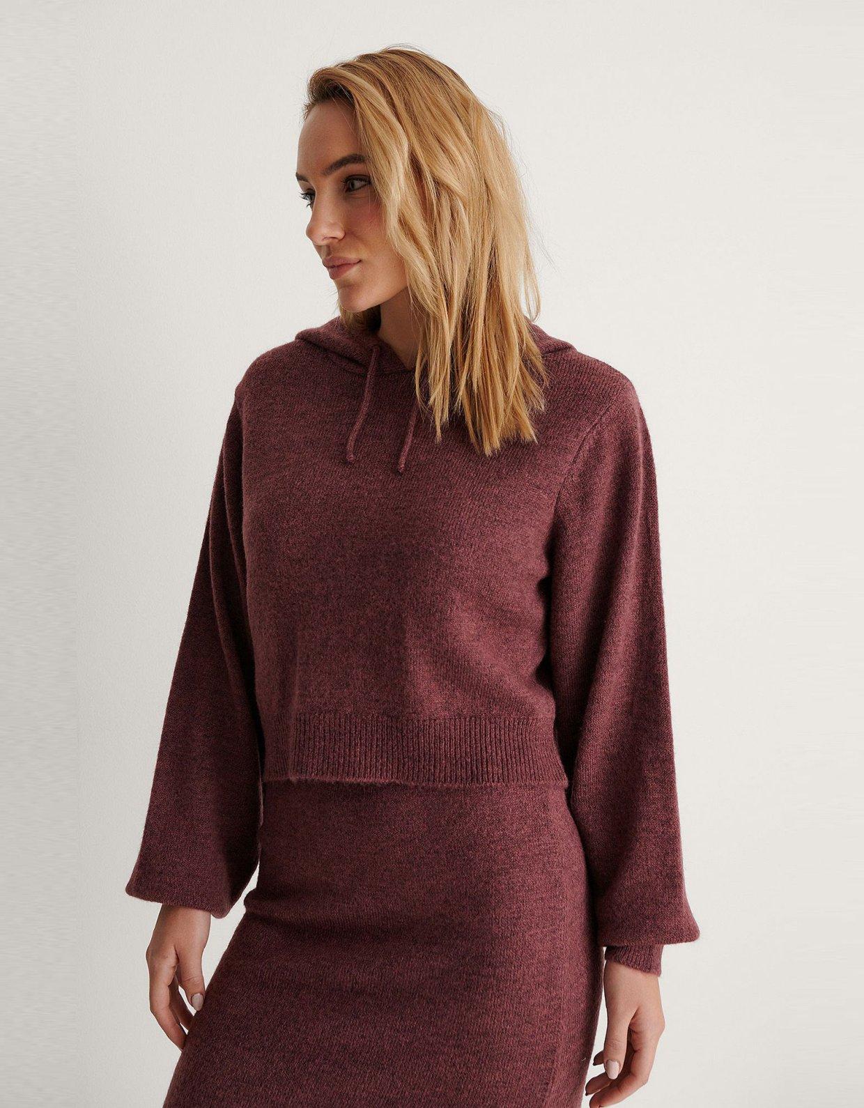 NA-KD Basic purple hoodie