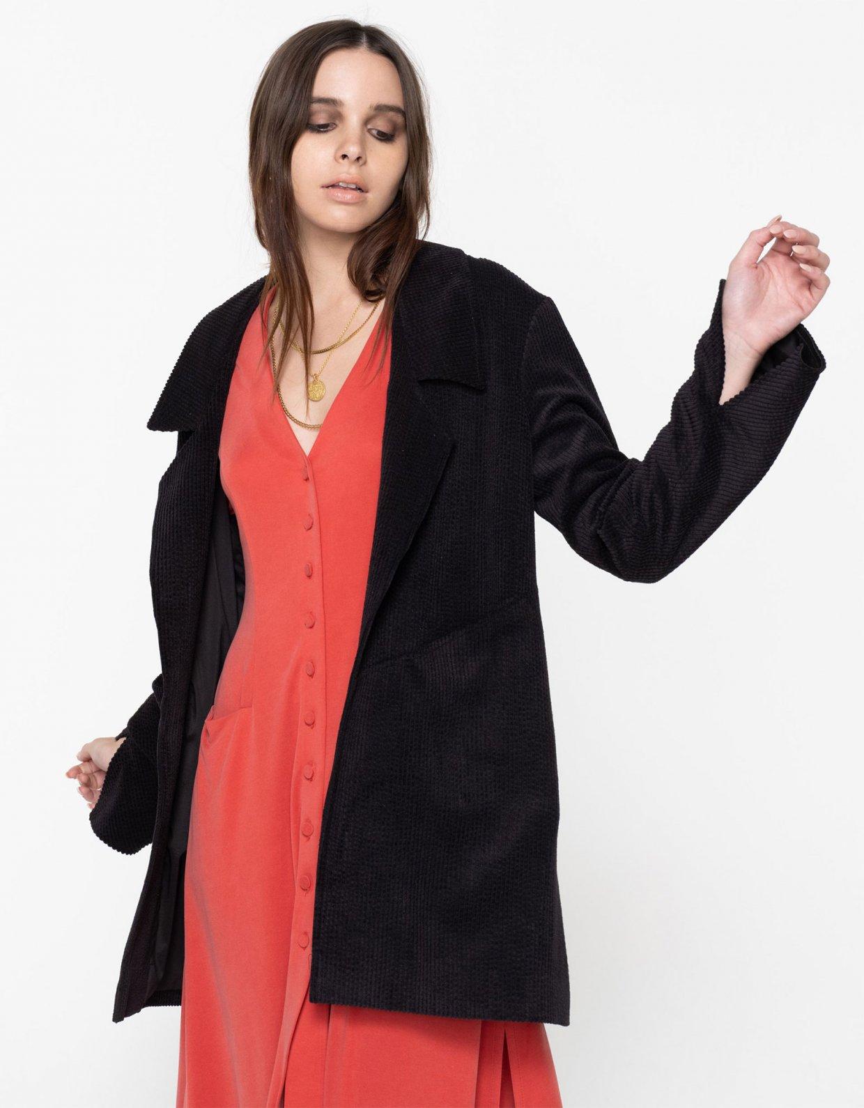 Nadia Rapti Beatles cord short jacket black