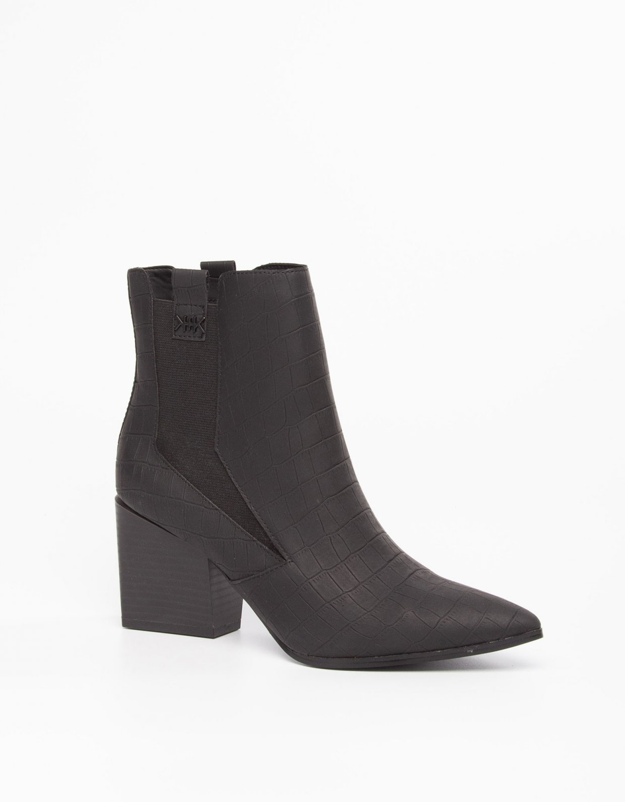 Kendall + Kylie Finigan black booties
