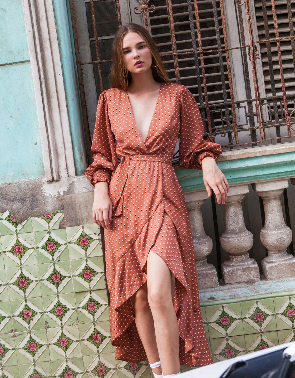 Mallory the label Bolero polka dot dress