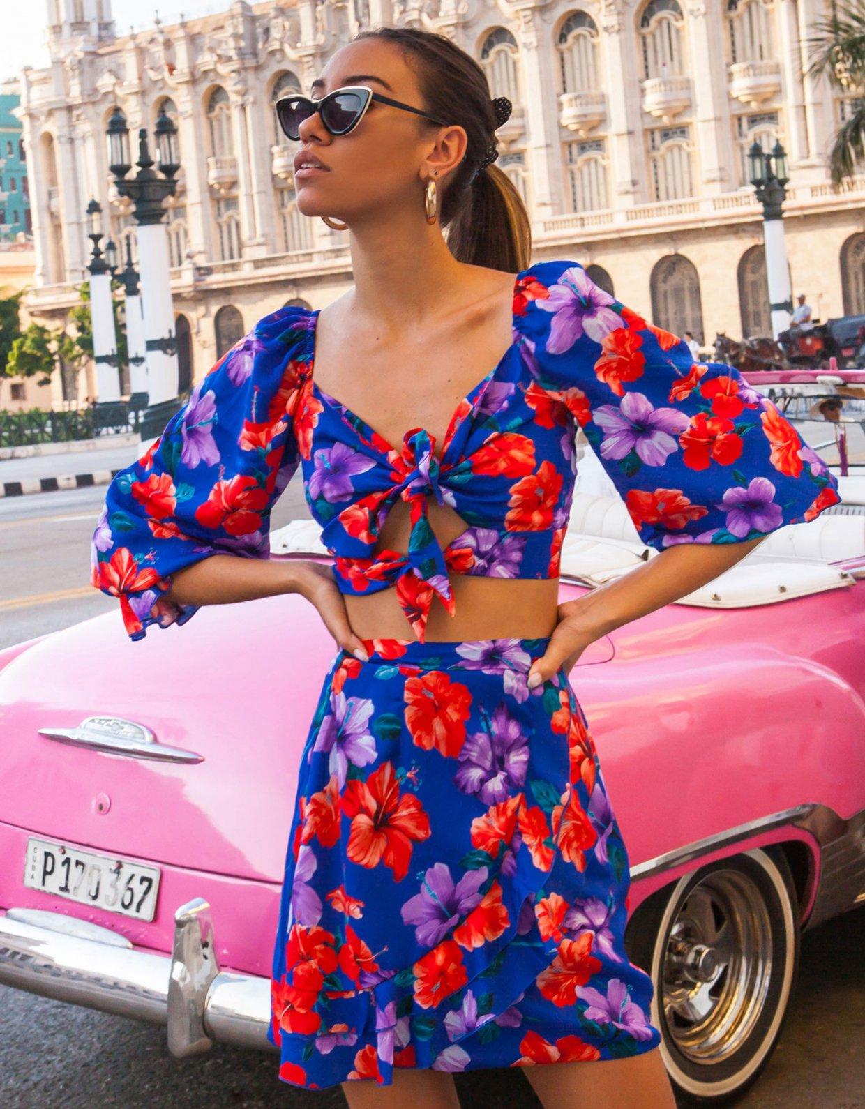 Mallory the label Vista blue skirt