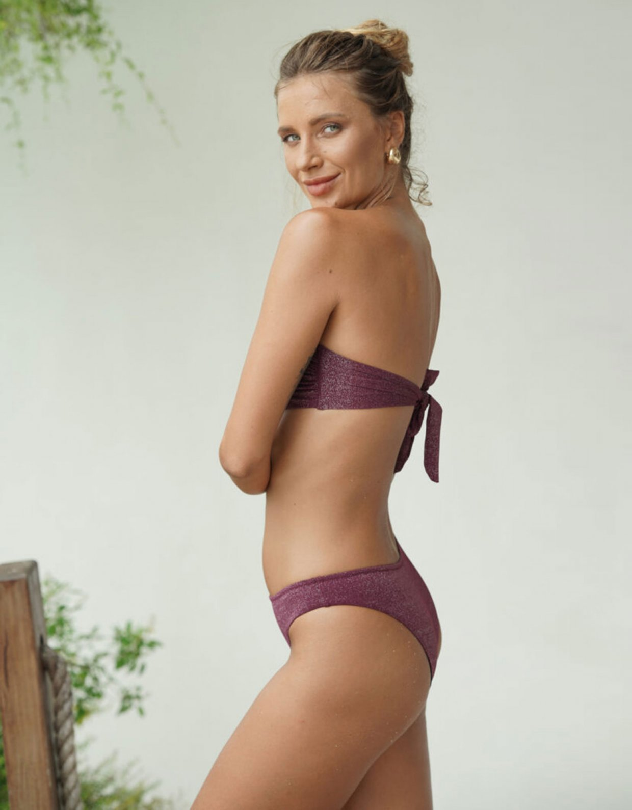 Lookseri swimwear Chiara burgundy bikini