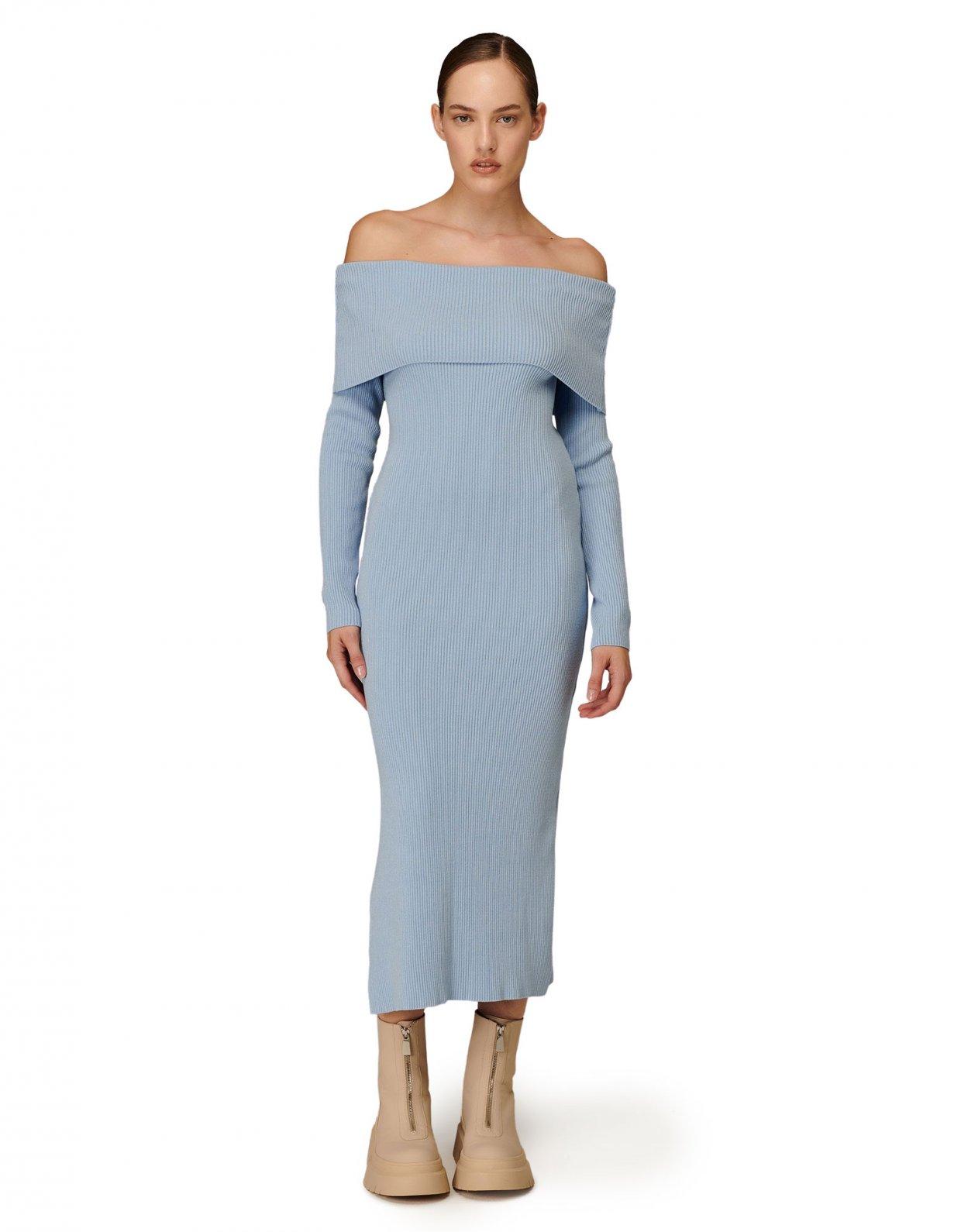 Combos Knitwear Combos W-105 Light blue dress