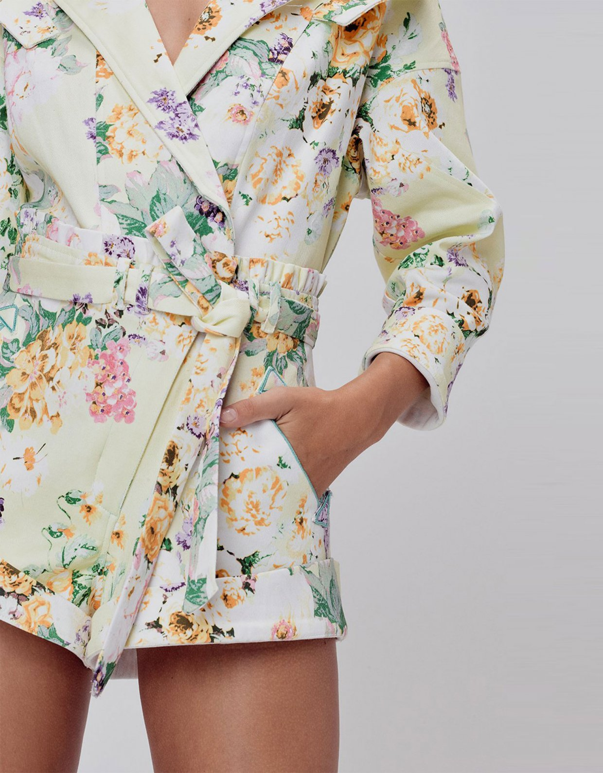 For love & lemons Chamomile denim romper