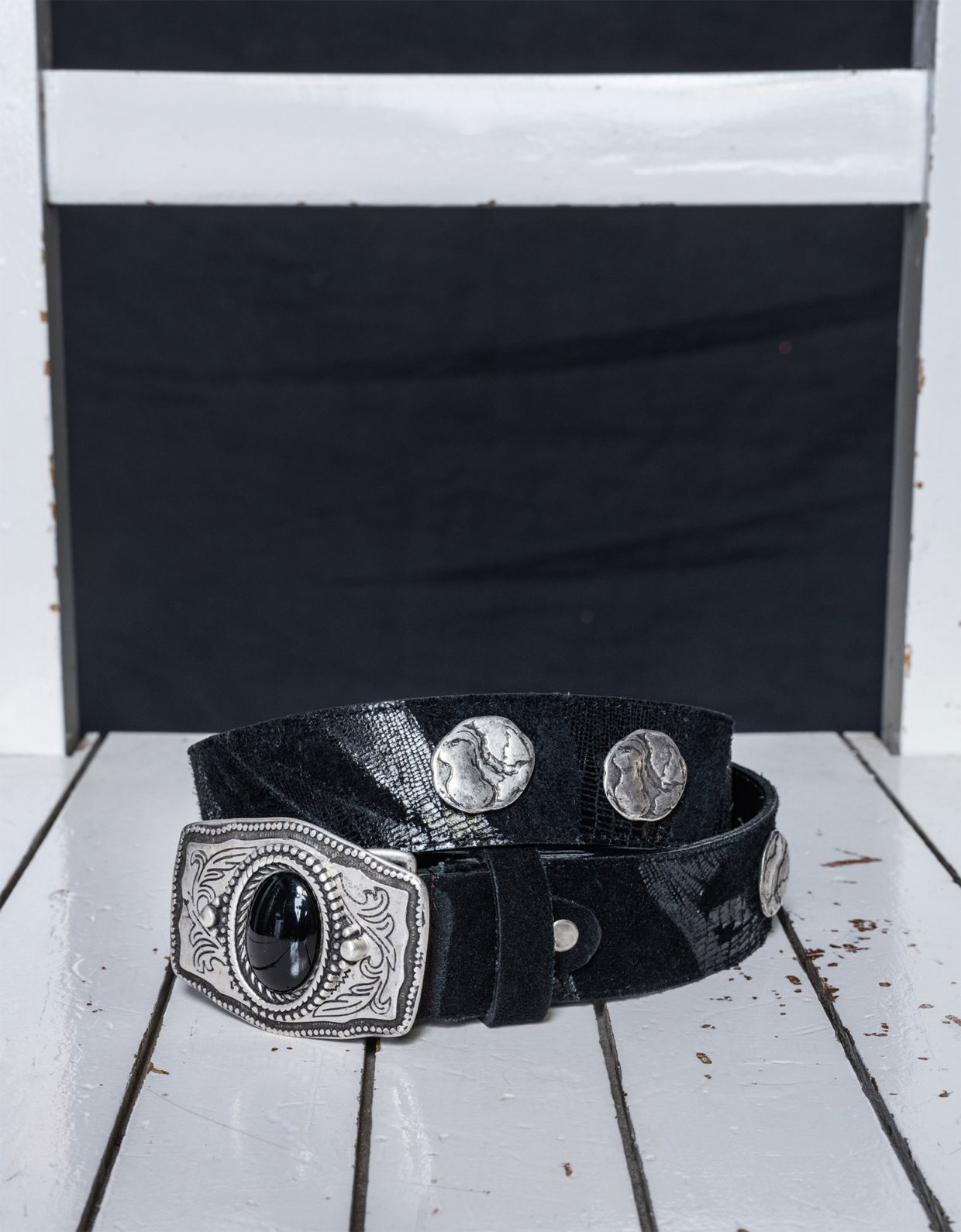 Nadia Rapti Coldplay belt black