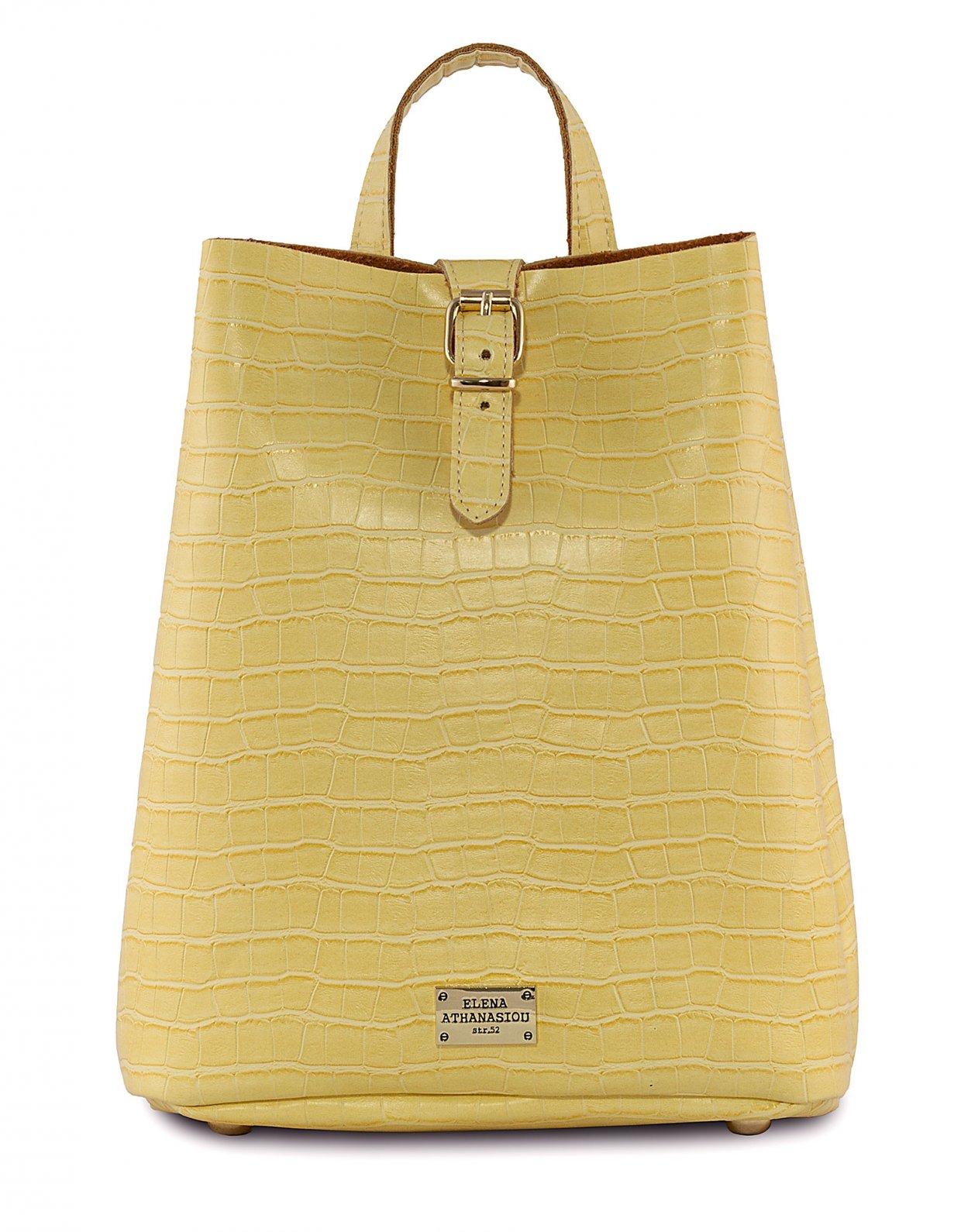 Elena Athanasiou Croco backpack Lemon