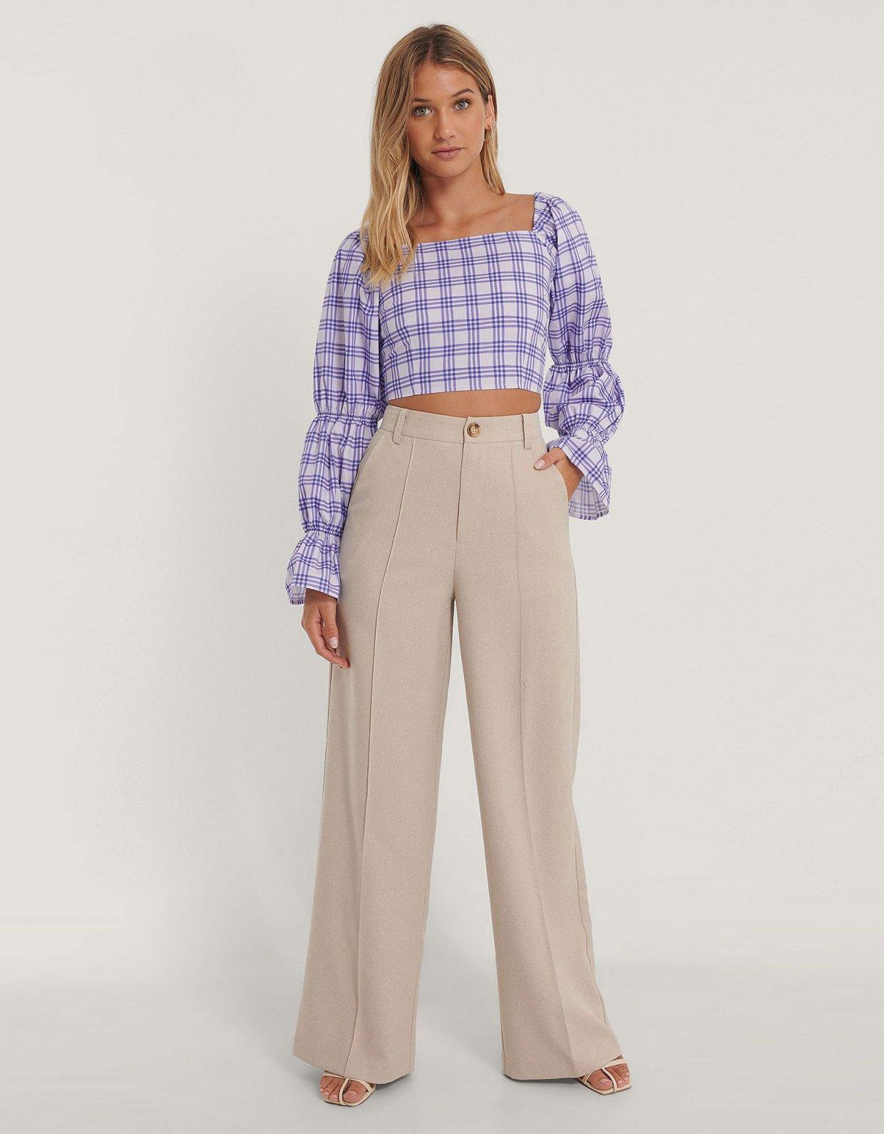 NA-KD Cropped cotton blouse