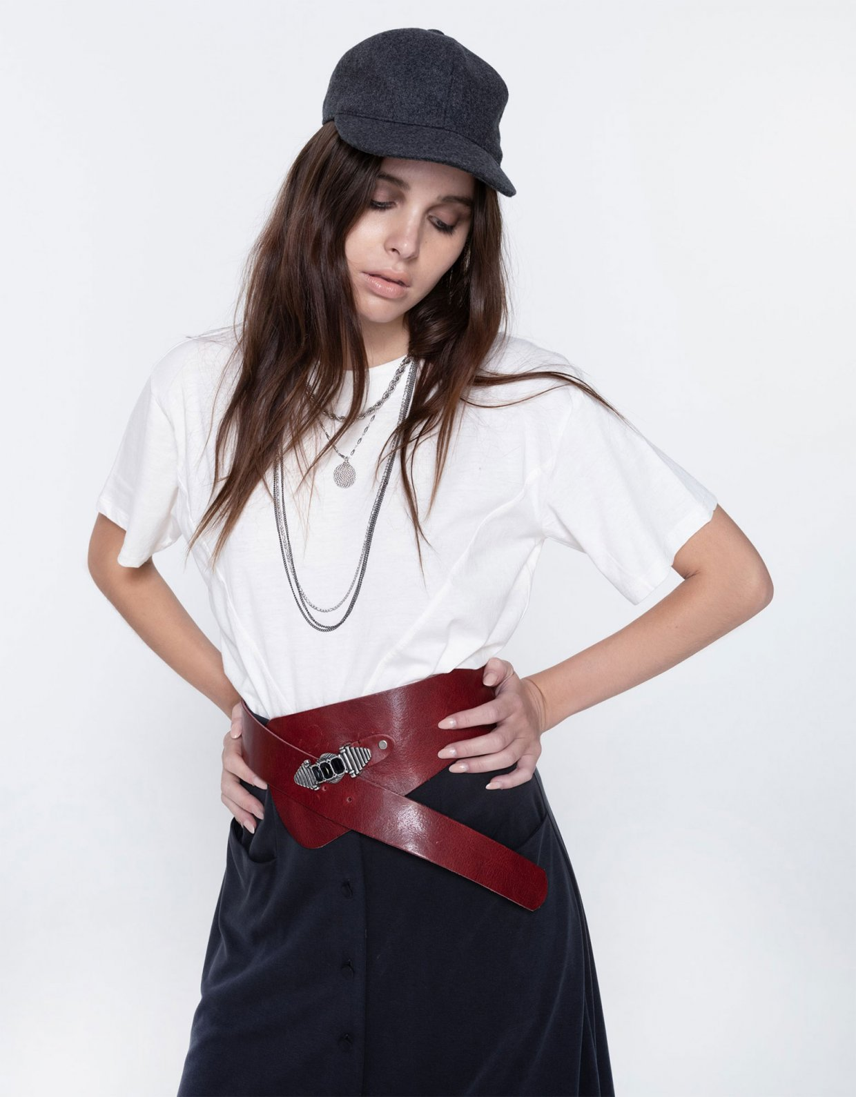 Nadia Rapti Cure wide belt black