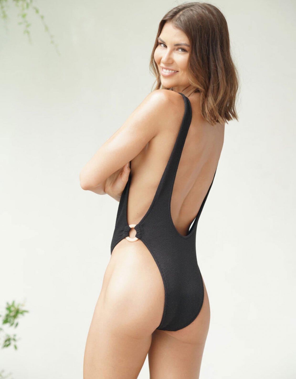 Lookseri swimwear Del colore nero one-piece swimsuit