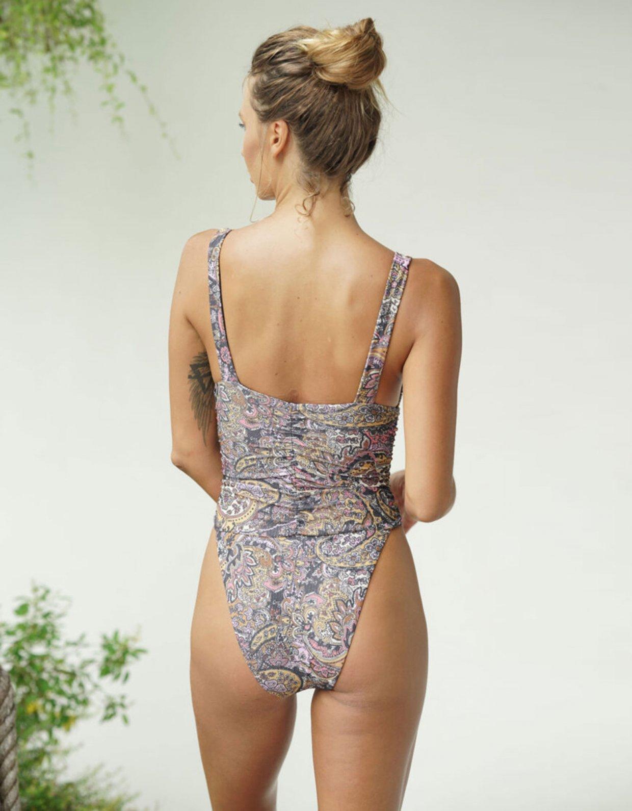Lookseri swimwear Donna paisley one-piece swimsuit