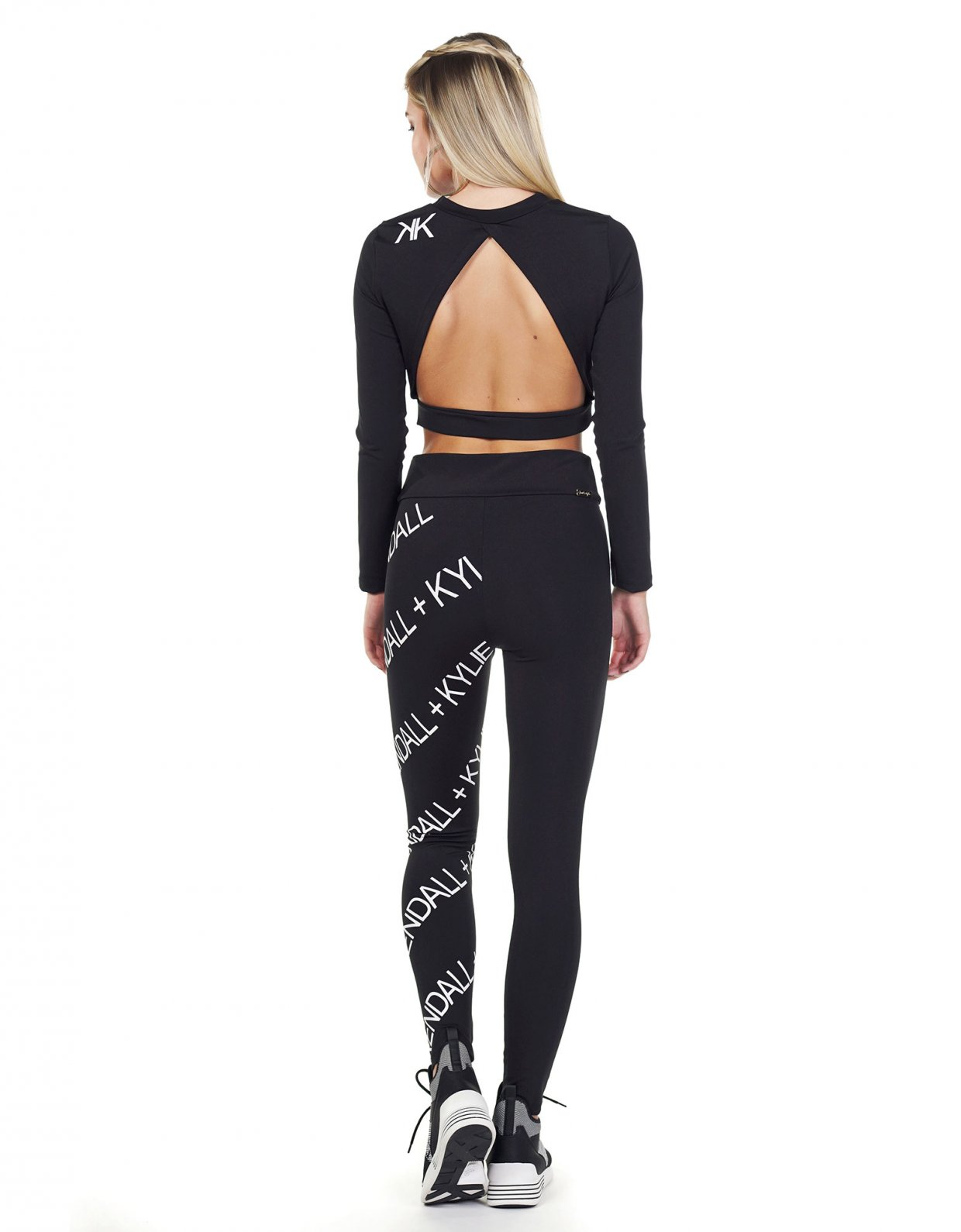 Kendall + Kylie Active ribbon logo leggings