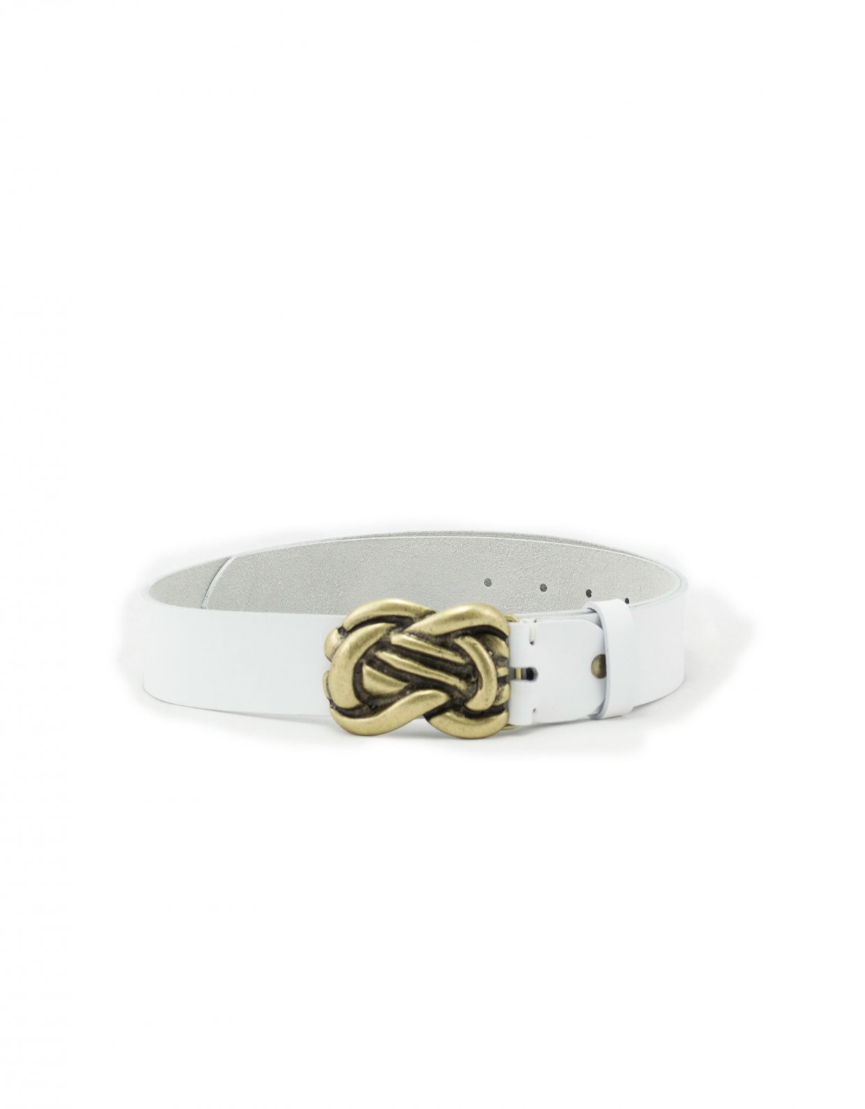 Individual Art Leather Human touch belt white