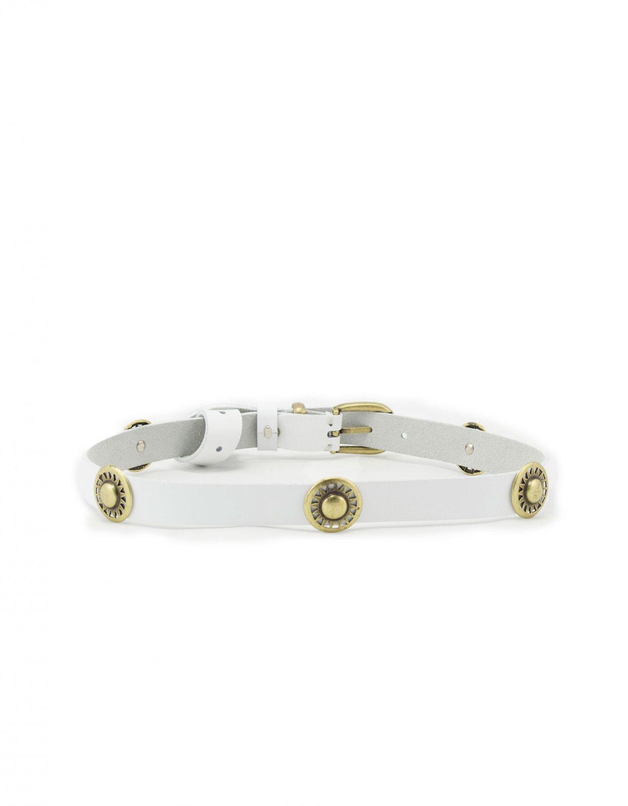 Individual Art Leather Holiday belt white