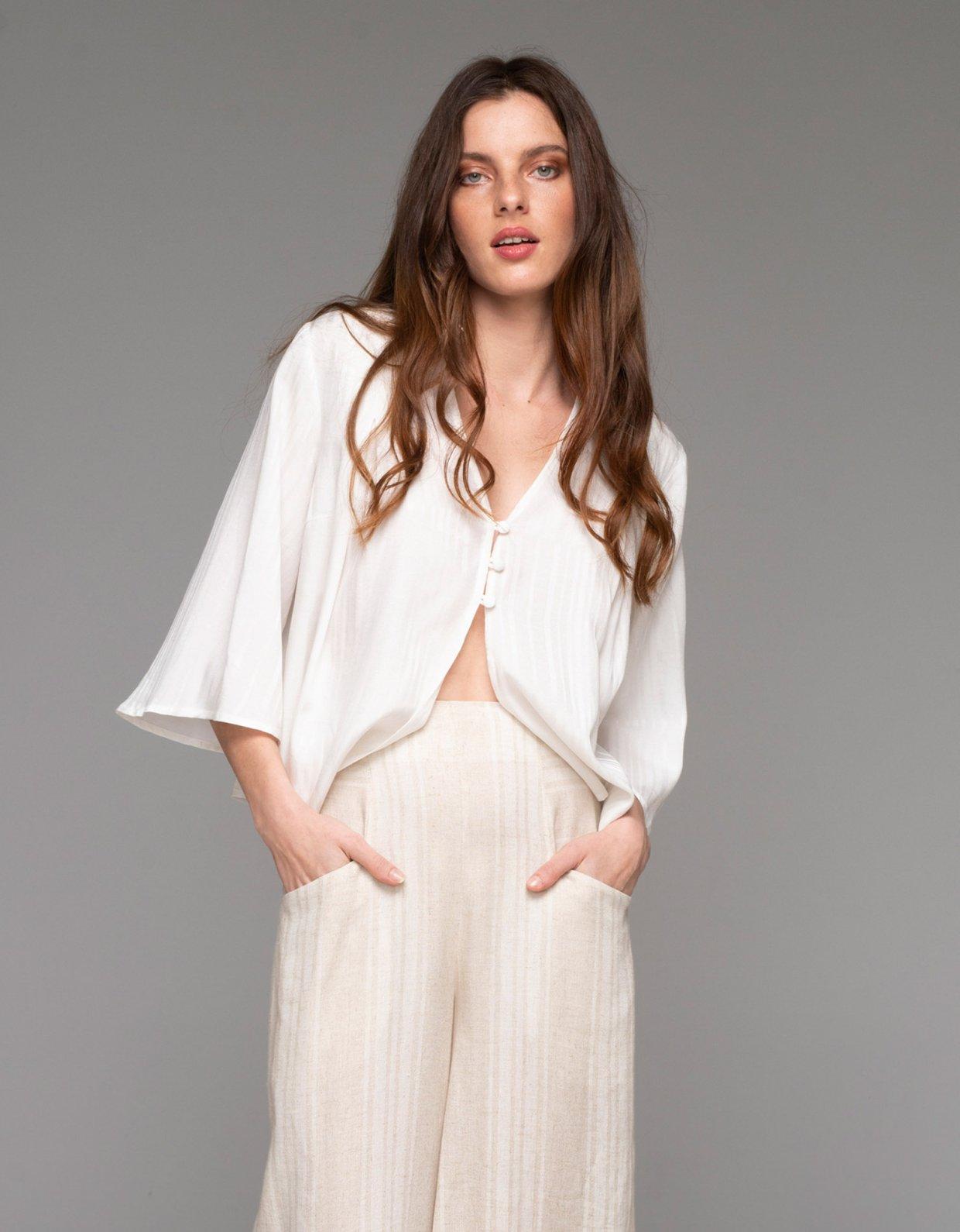 Nadia Rapti Saint Tropez shirt white