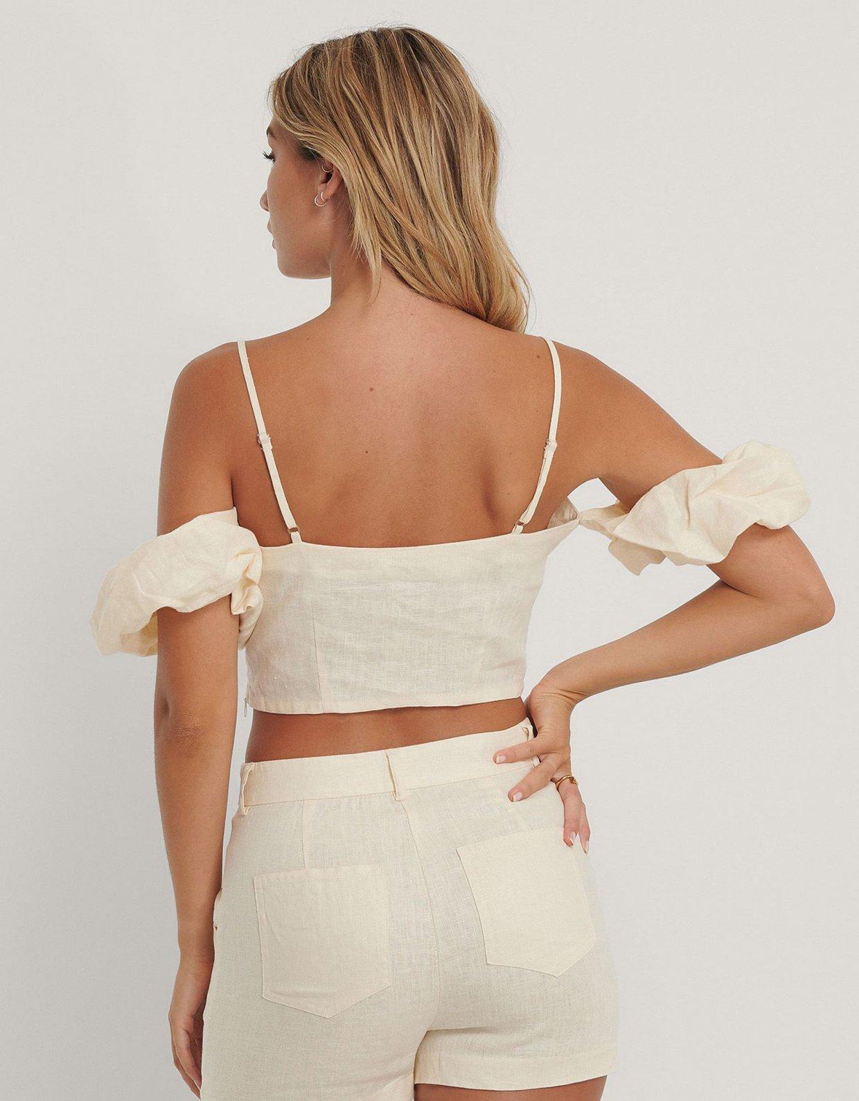 NA-KD Dropped shoulder linen top