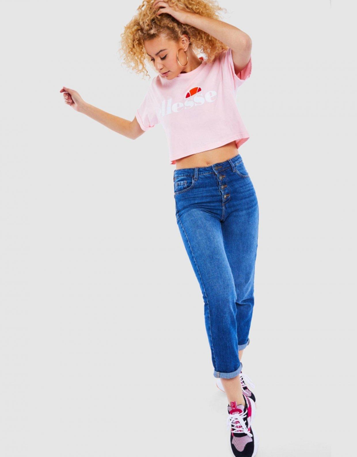 Ellesse Alberta cropped tee pink