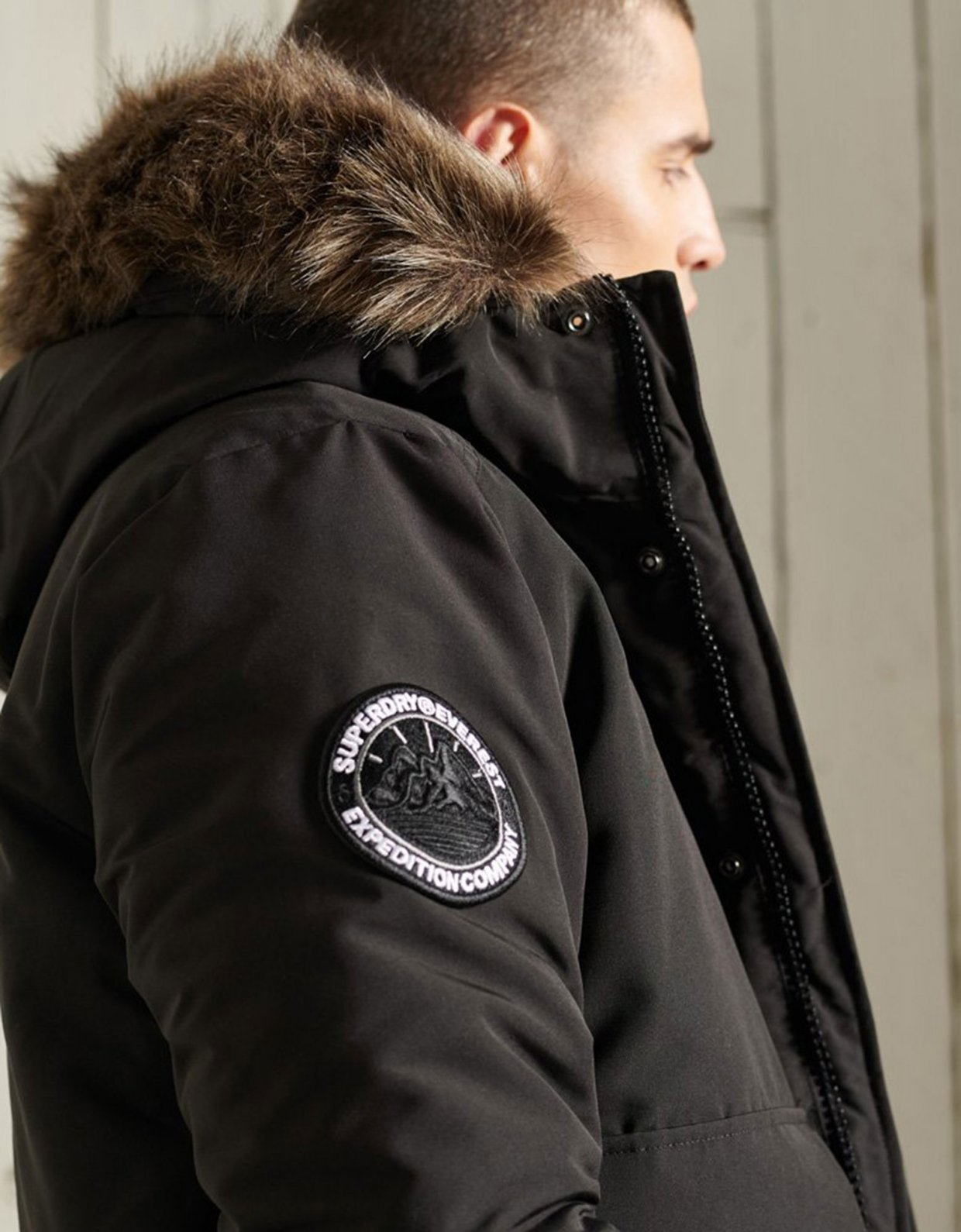 Superdry Everest bomber jacket jet black