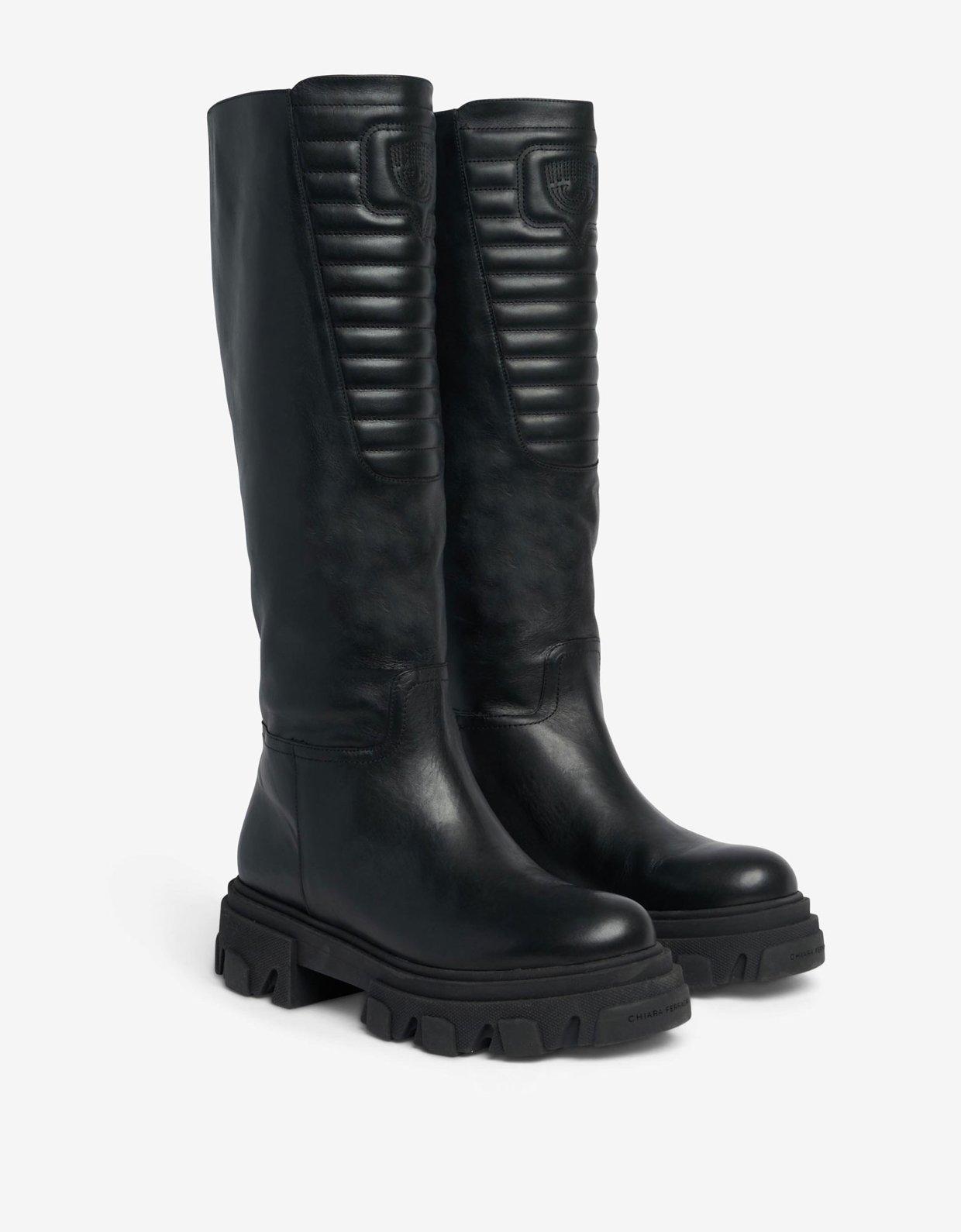 Chiara Ferragni Eyelike biker boots