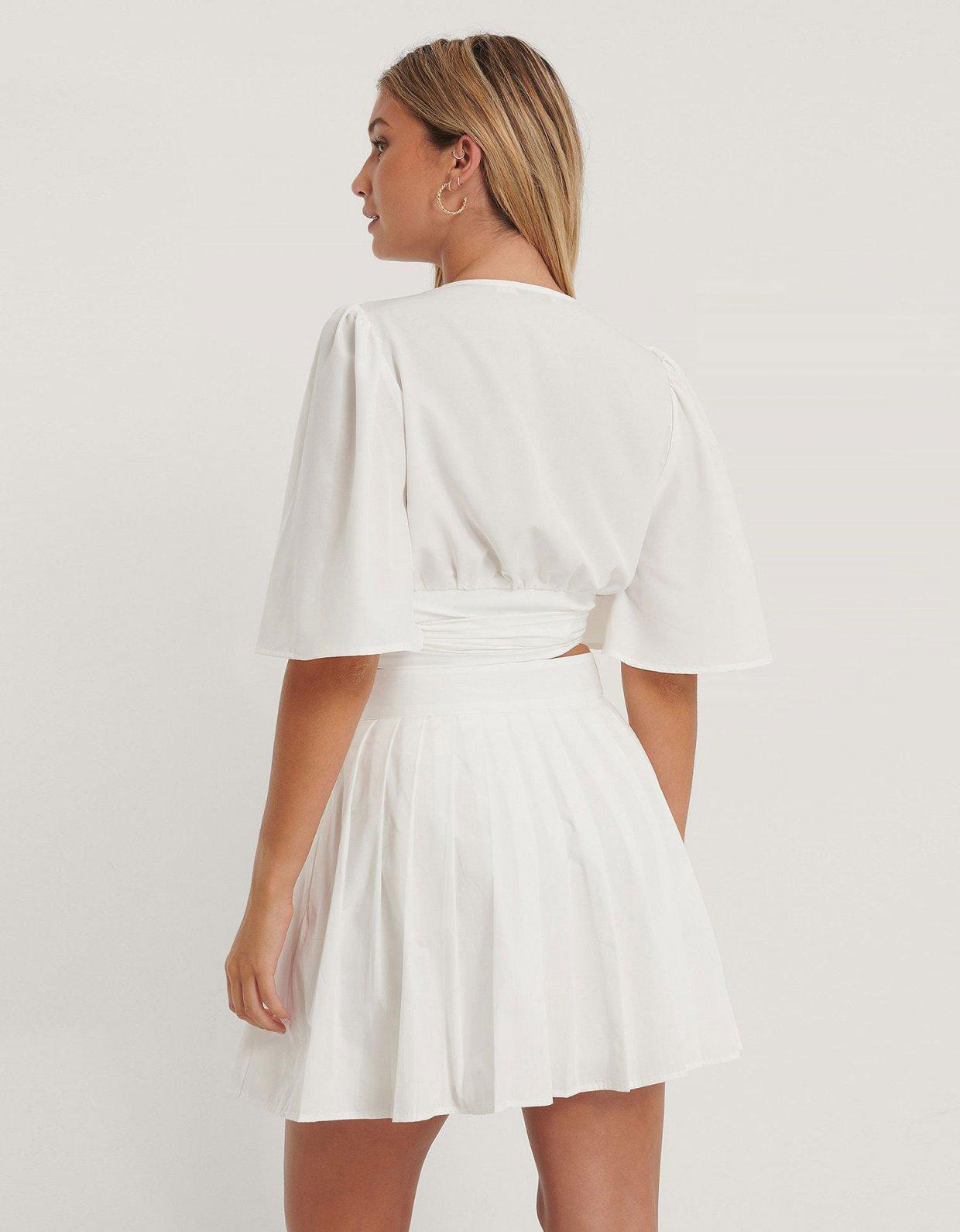 NA-KD Flowy wrap blouse
