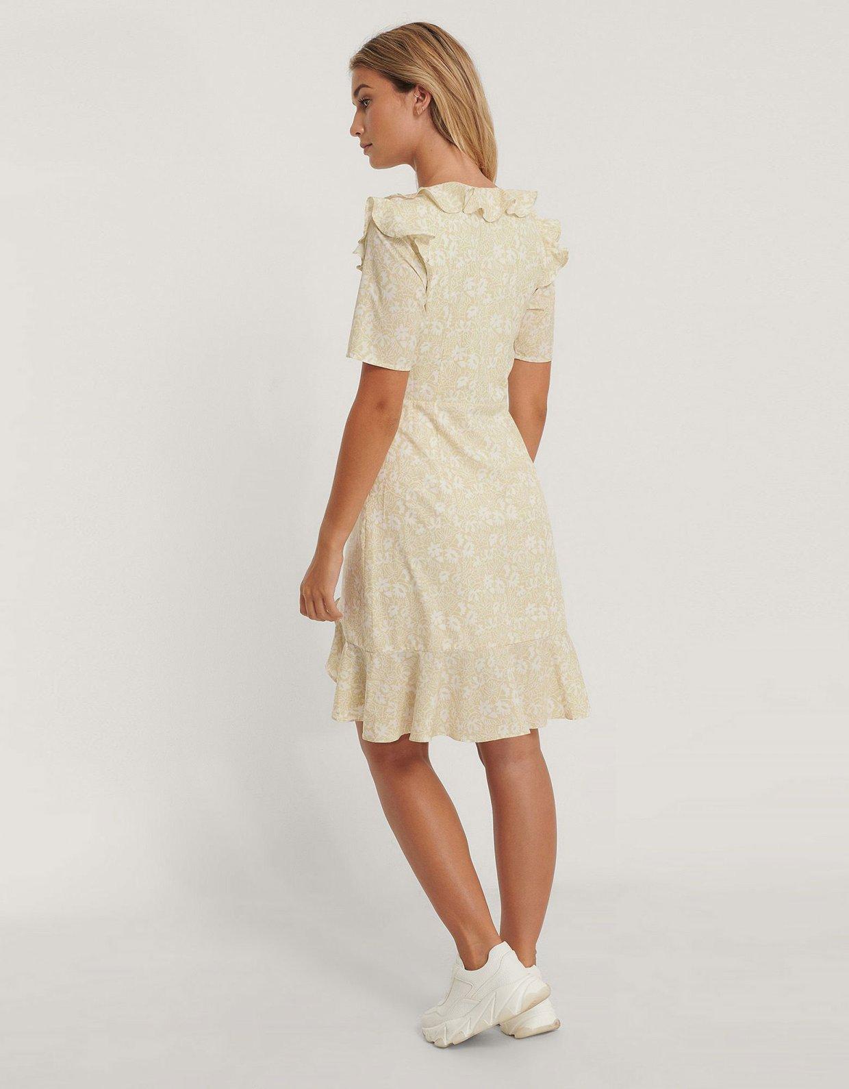 NA-KD Frill mini dress